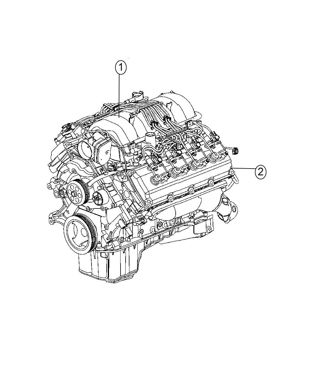 Dodge Challenger Engine Complete Mds Long Service