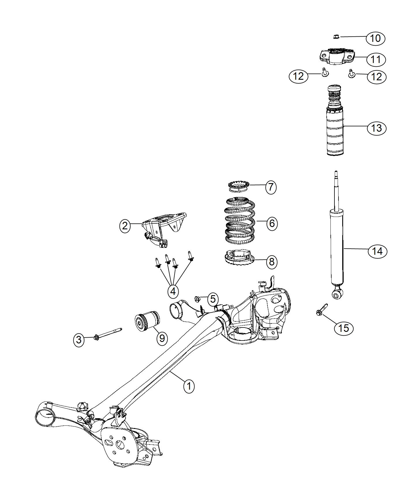Fiat 500l Shock Absorber Suspension Rear Canada
