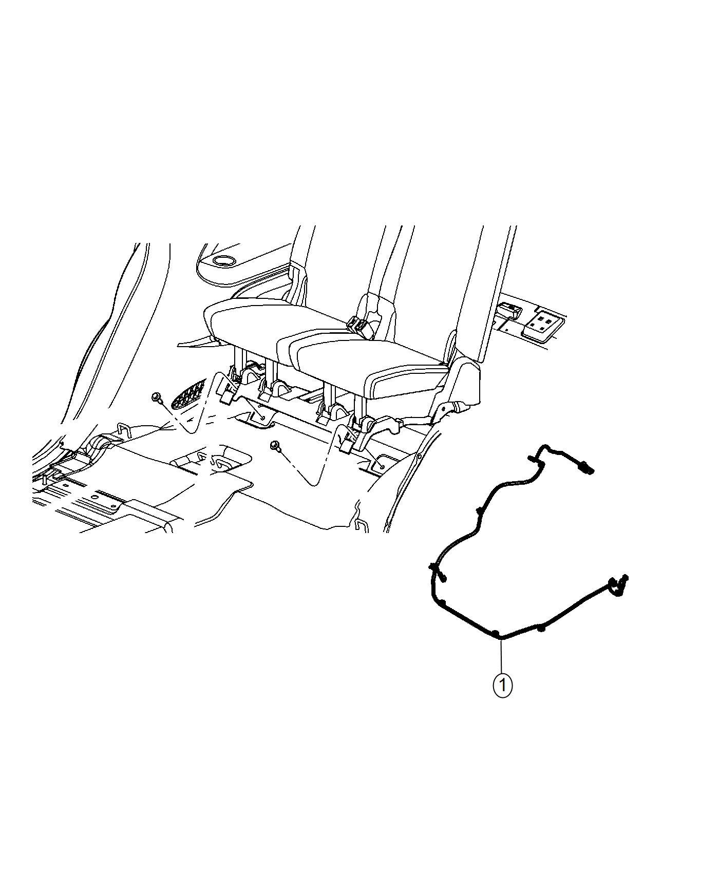 Dodge Magnum Wiring Rear Seat Export Trim