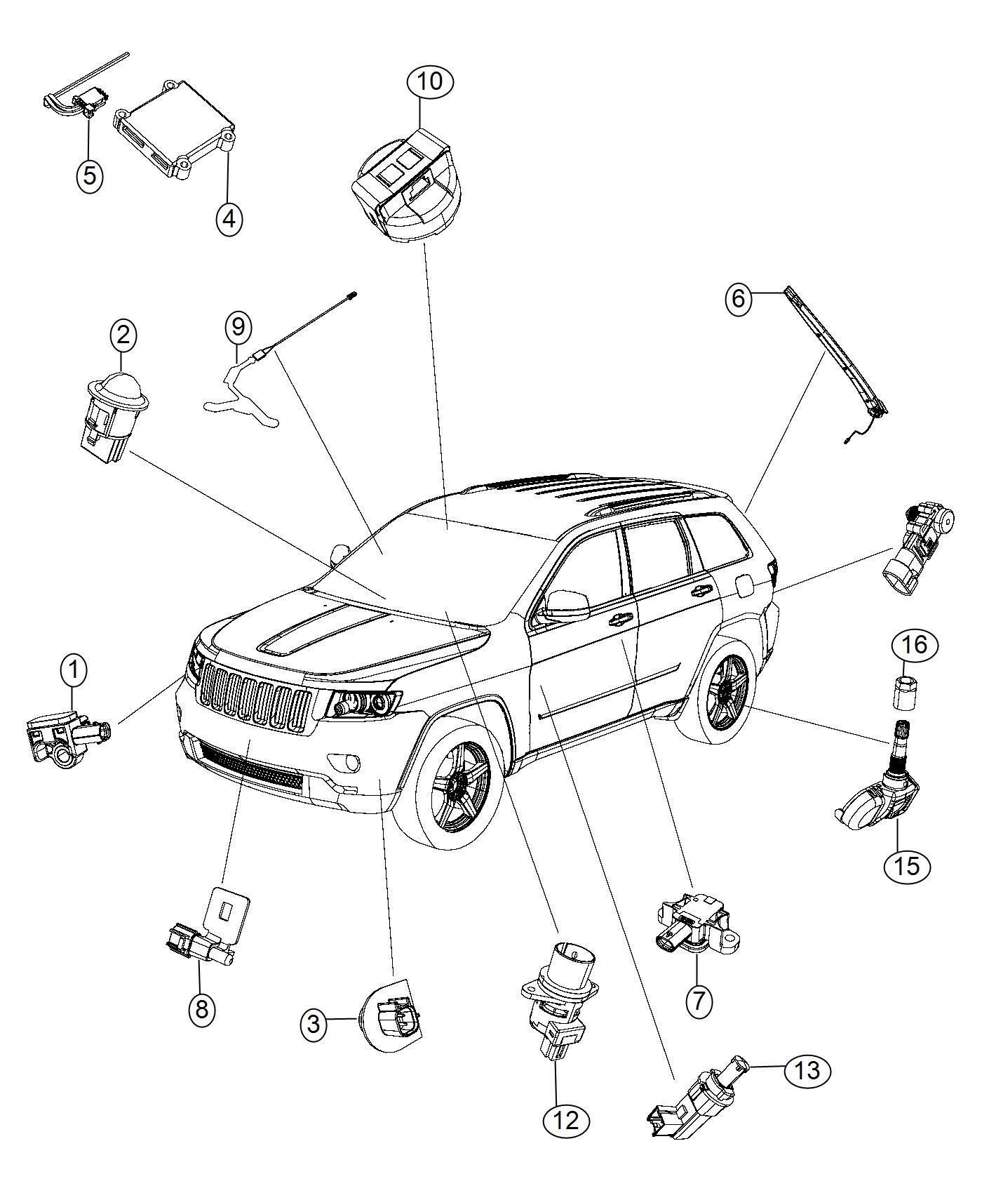 Chrysler Pacifica L Hybrid Sensor Tire Pressure