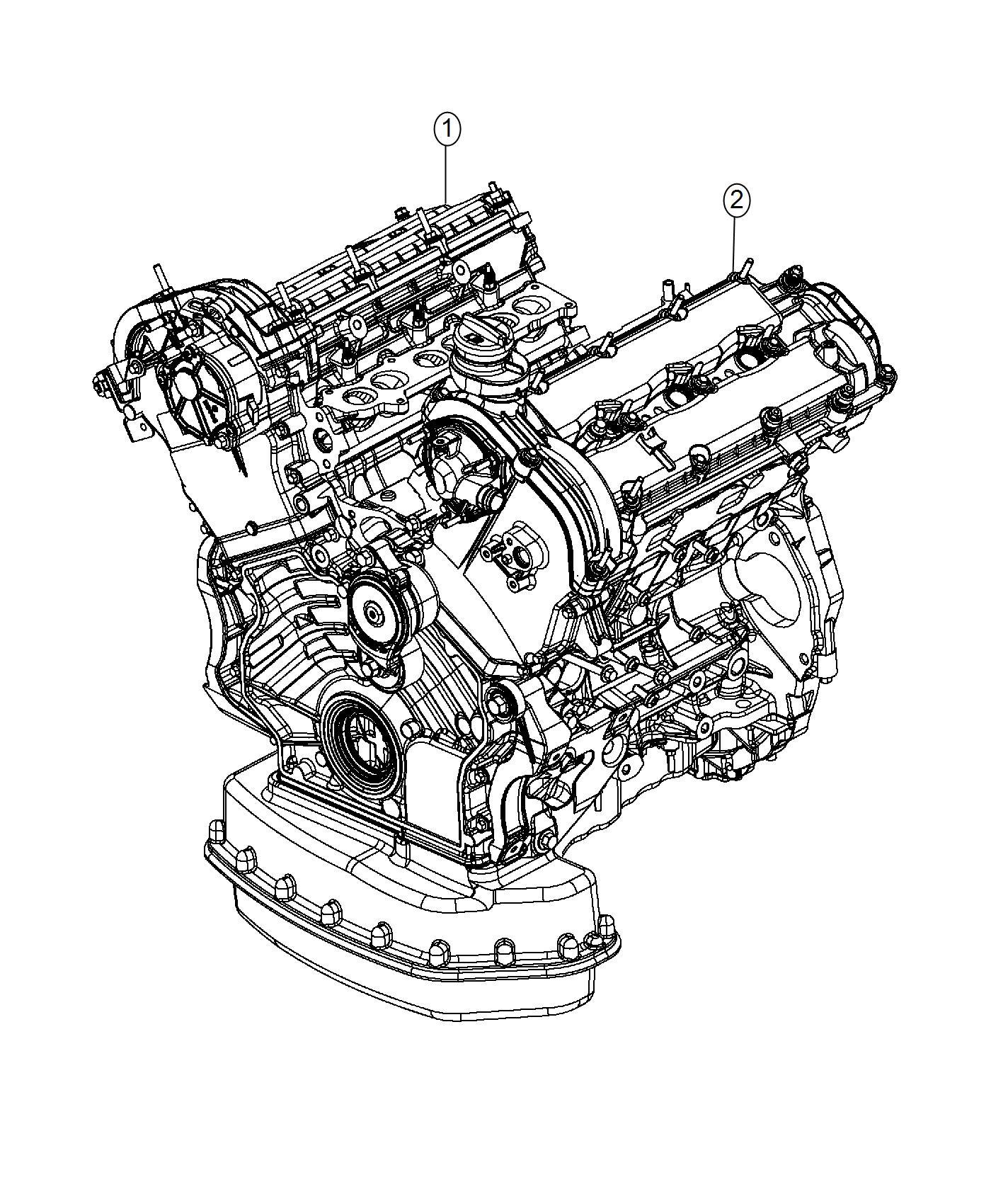 Jeep Grand Cherokee Engine Long Block Emission