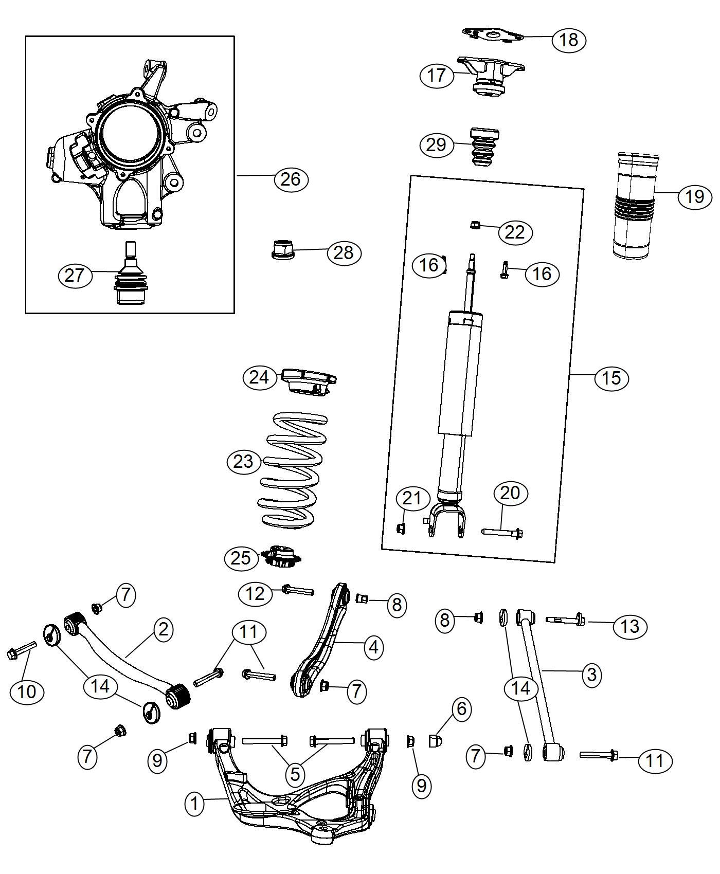 Jeep Grand Cherokee Shock Absorber Kit Suspension