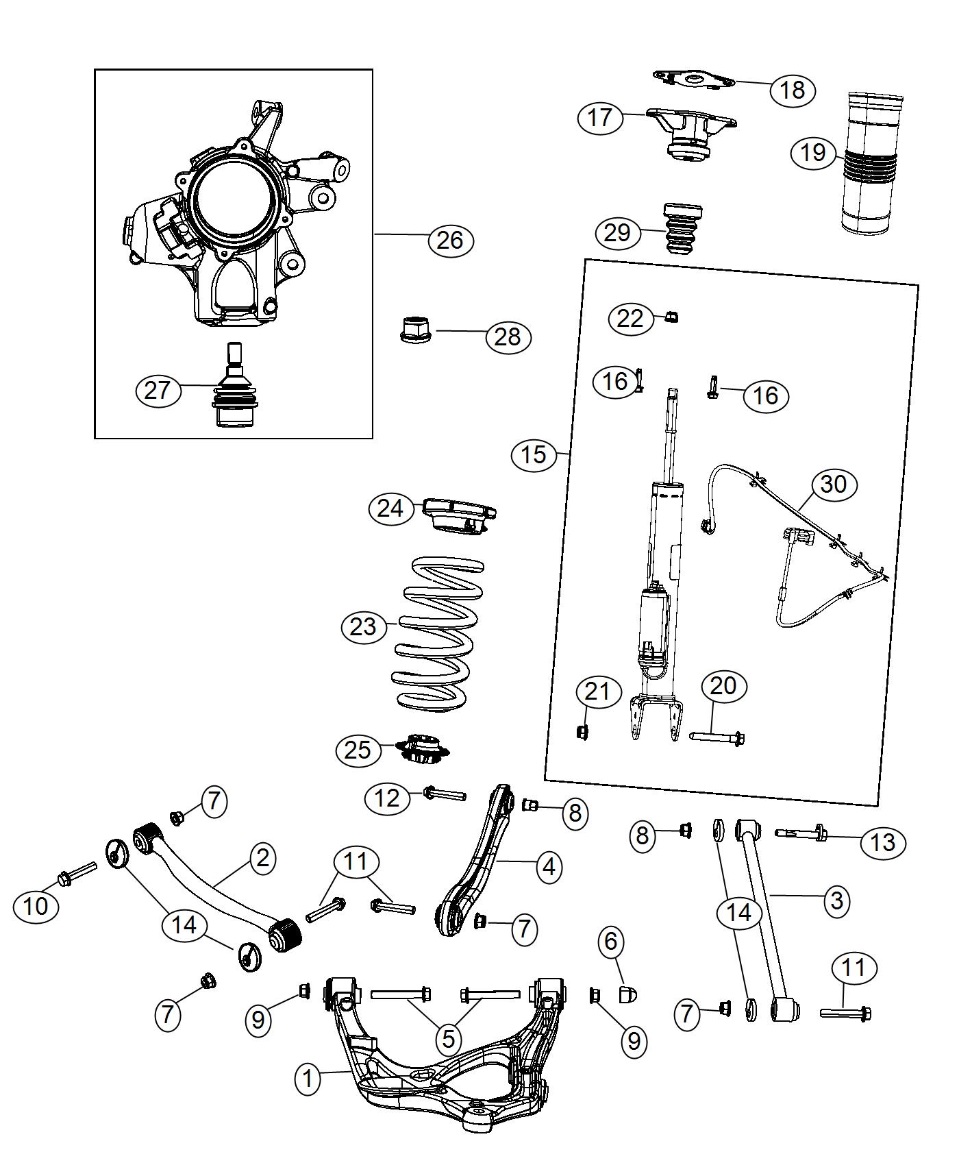 Jeep Grand Cherokee Link Assembly Toe Suspension