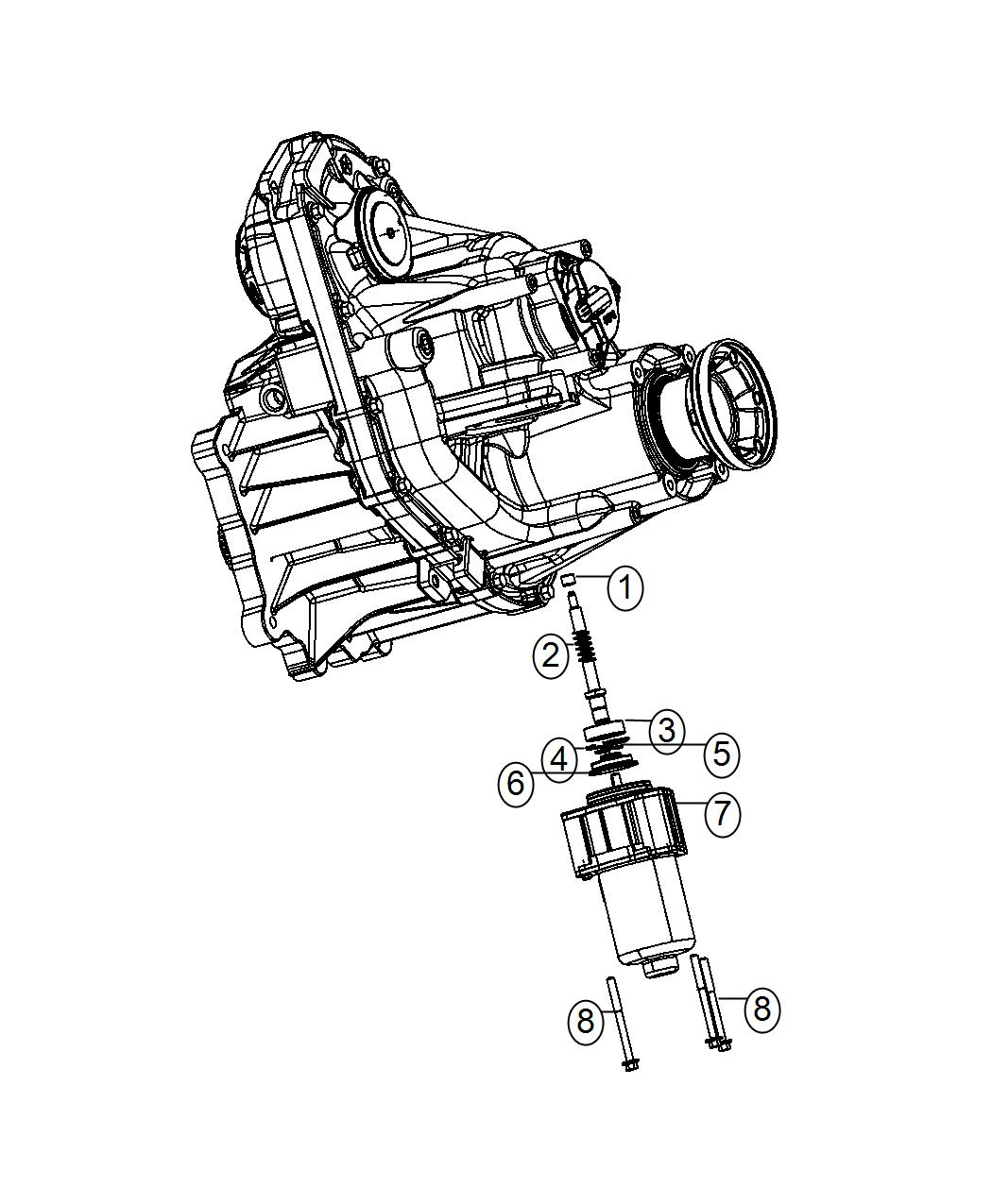 Jeep Grand Cherokee Gear Motor Transfer Case Demand