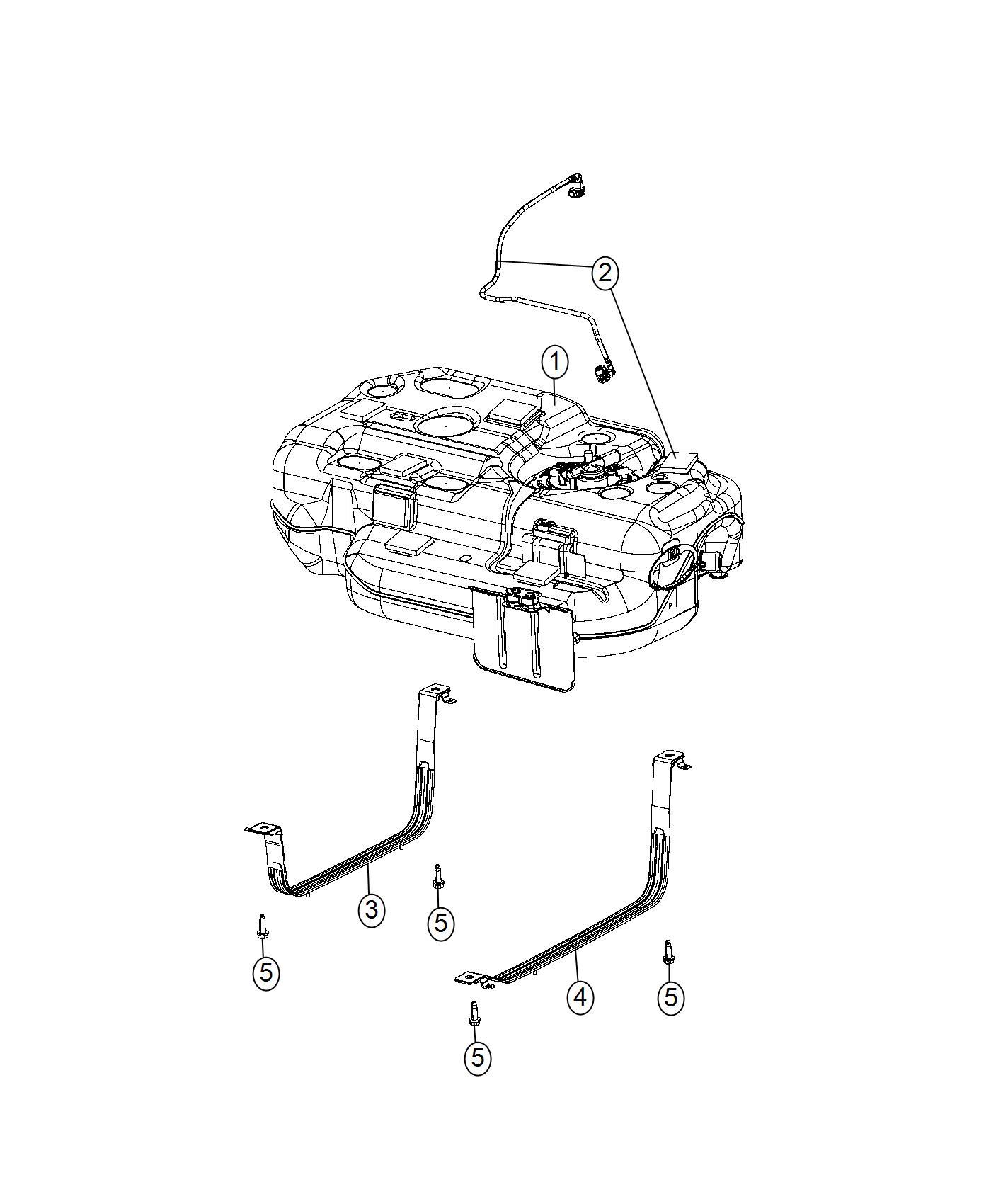 Chrysler Pacifica Tank Fuel 19 Gallon Fuel Tank
