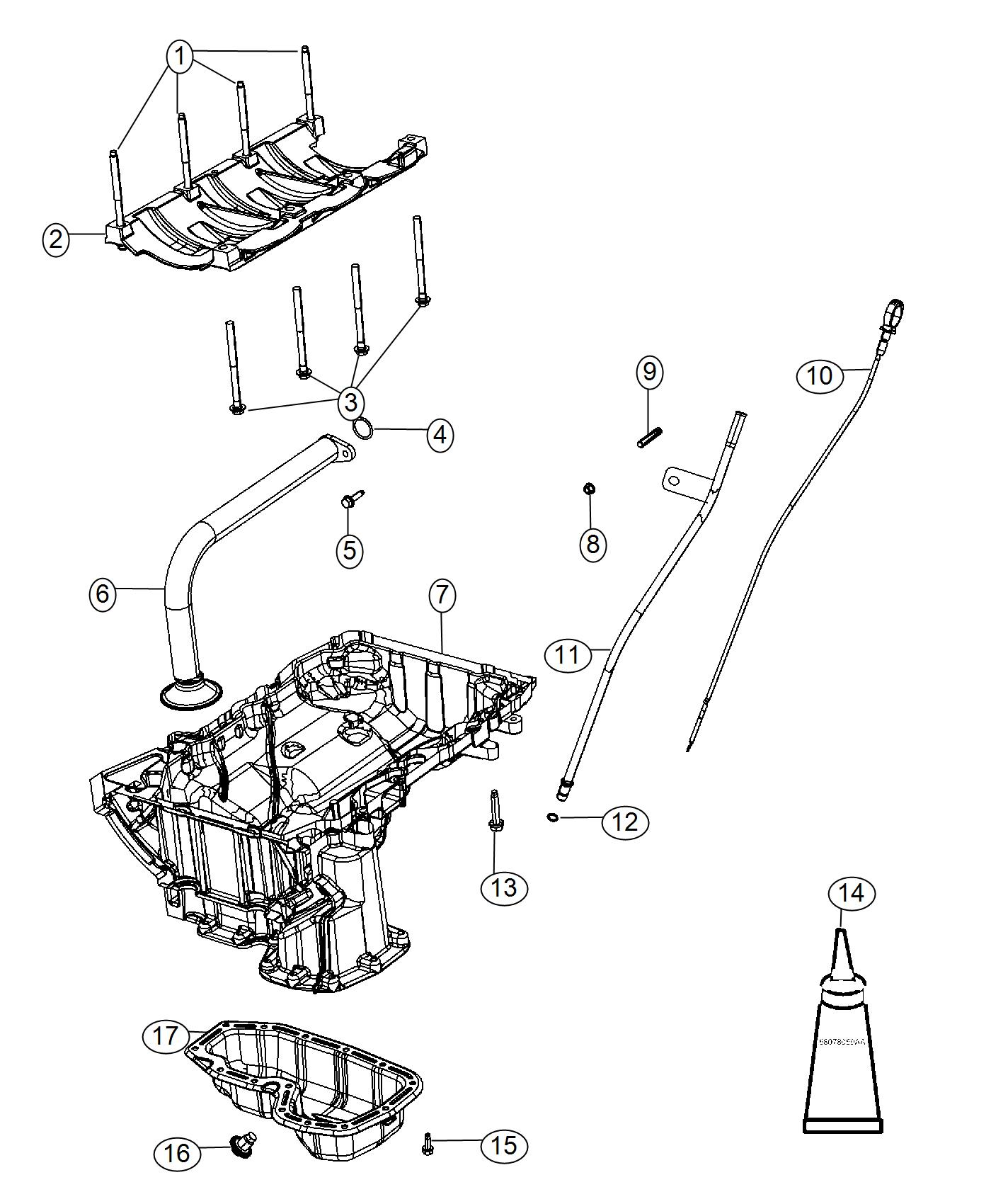 Jeep Grand Cherokee Pan Oil Upper Engine Level