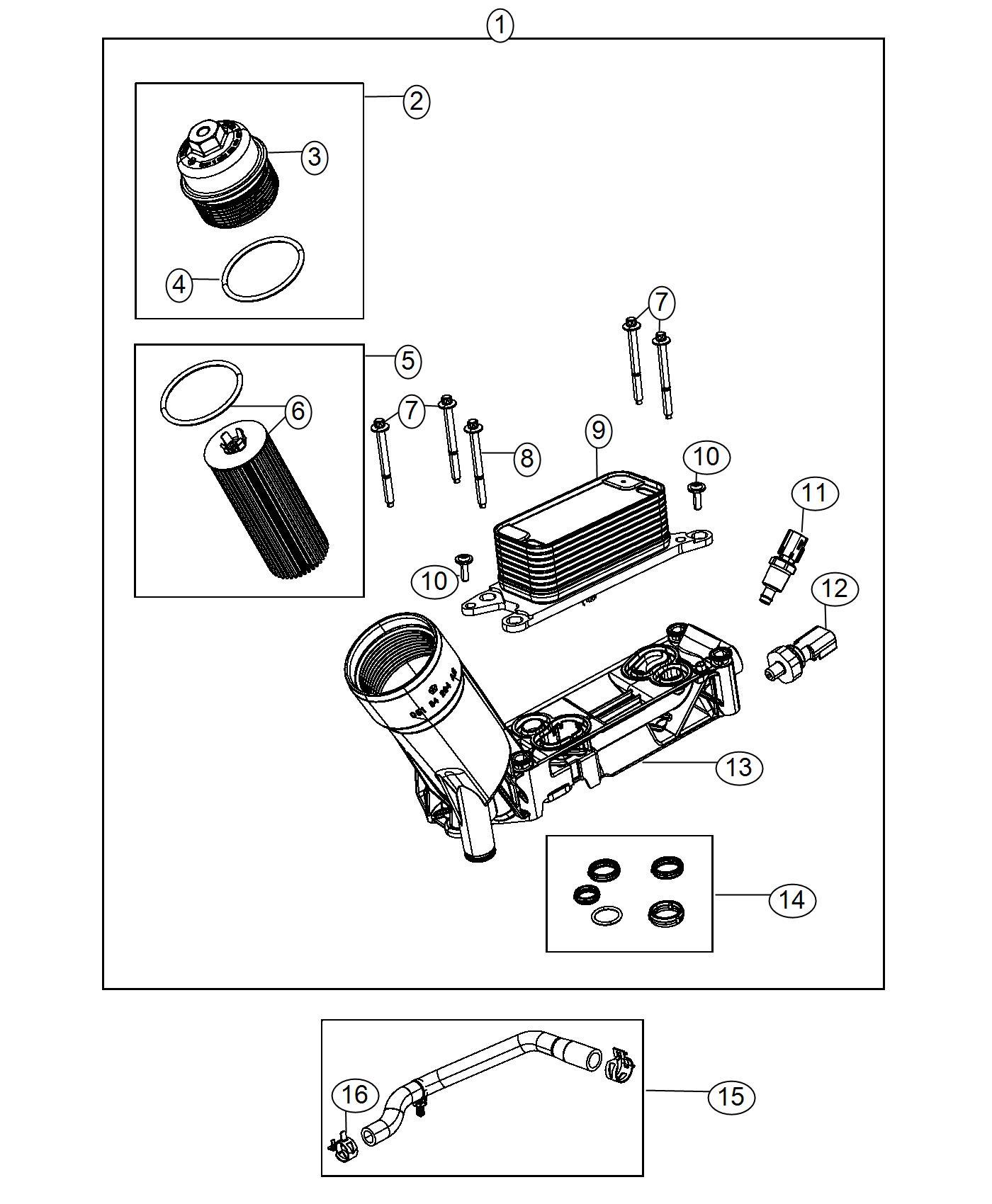 Dodge Grand Caravan Sending Unit Sensor Oil