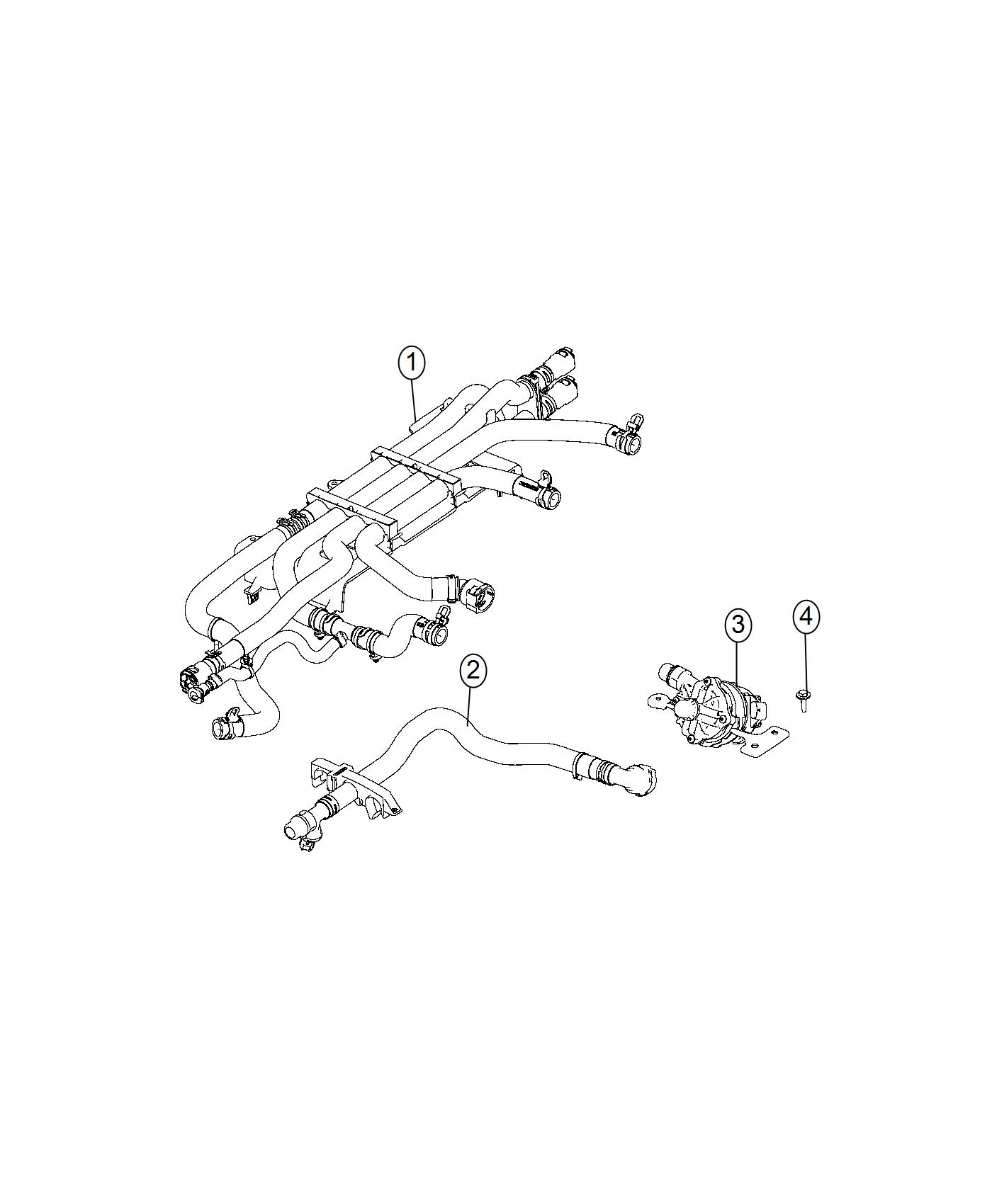 Chrysler Pacifica Pump Auxiliary Coolant