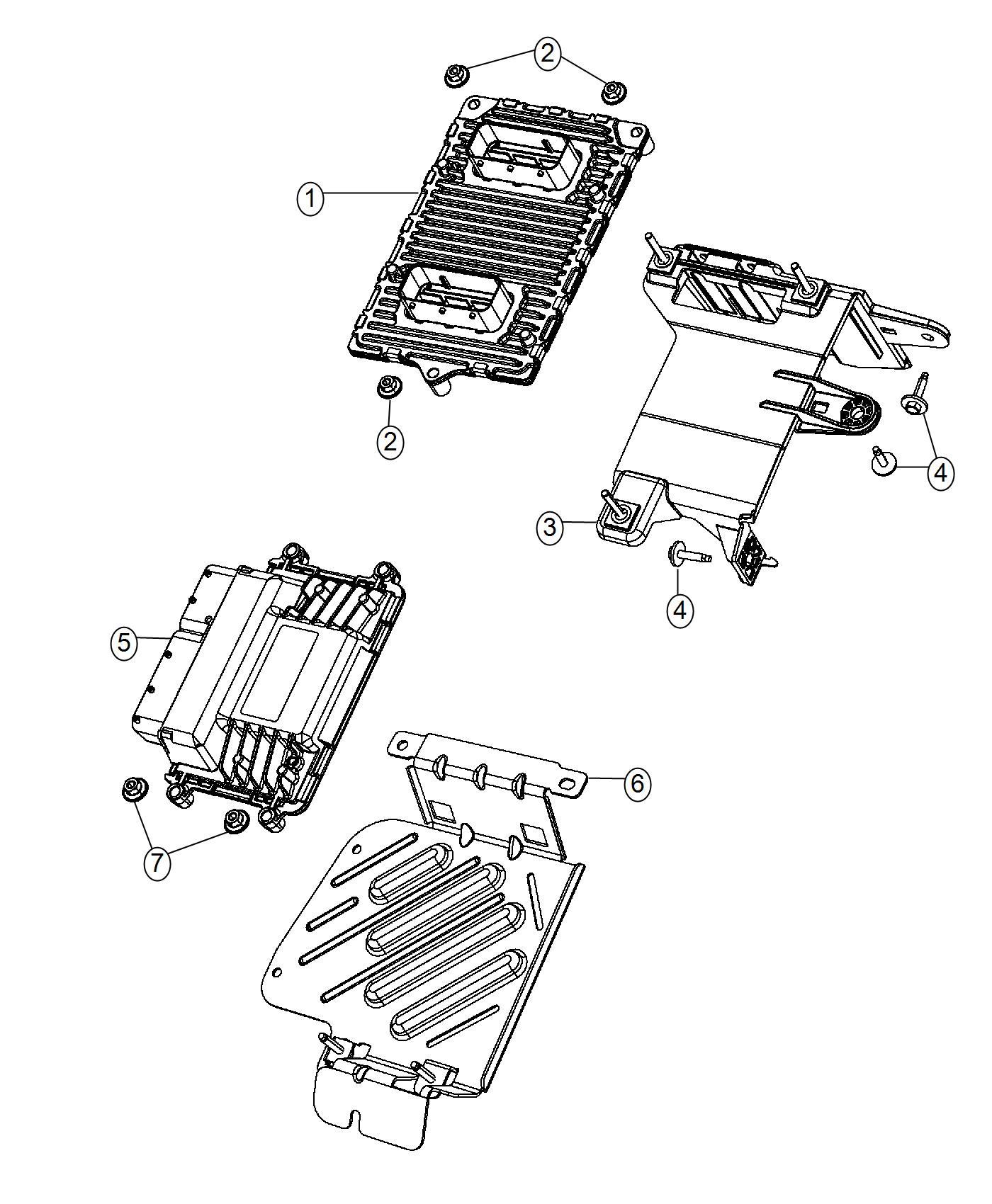 Dodge Dart Module Engine Controller Modules Compartment