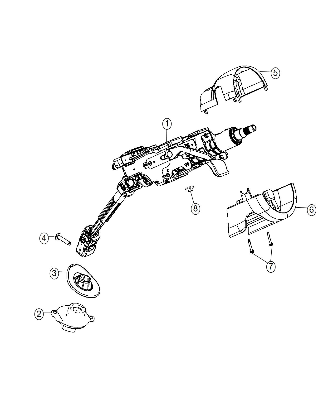 Jeep Cherokee Shroud Steering Column Lower Black