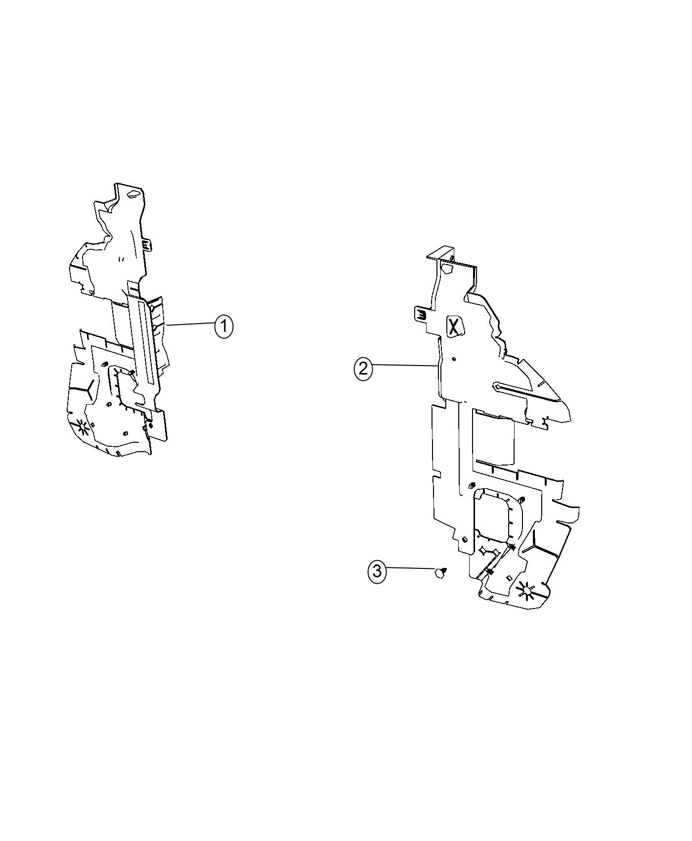 Dodge Journey Seal Radiator Side Air Export Right Front End Module