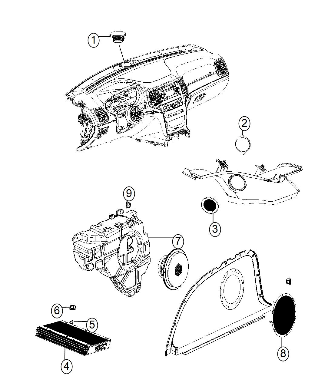 stereo wiring harness dodge durango � dodge magnum speaker 2 5 trim all  trim codes