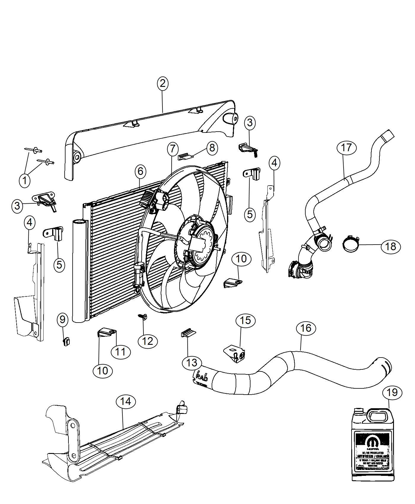 Fiat 500 Hose Radiator Outlet Cooling Maintenance