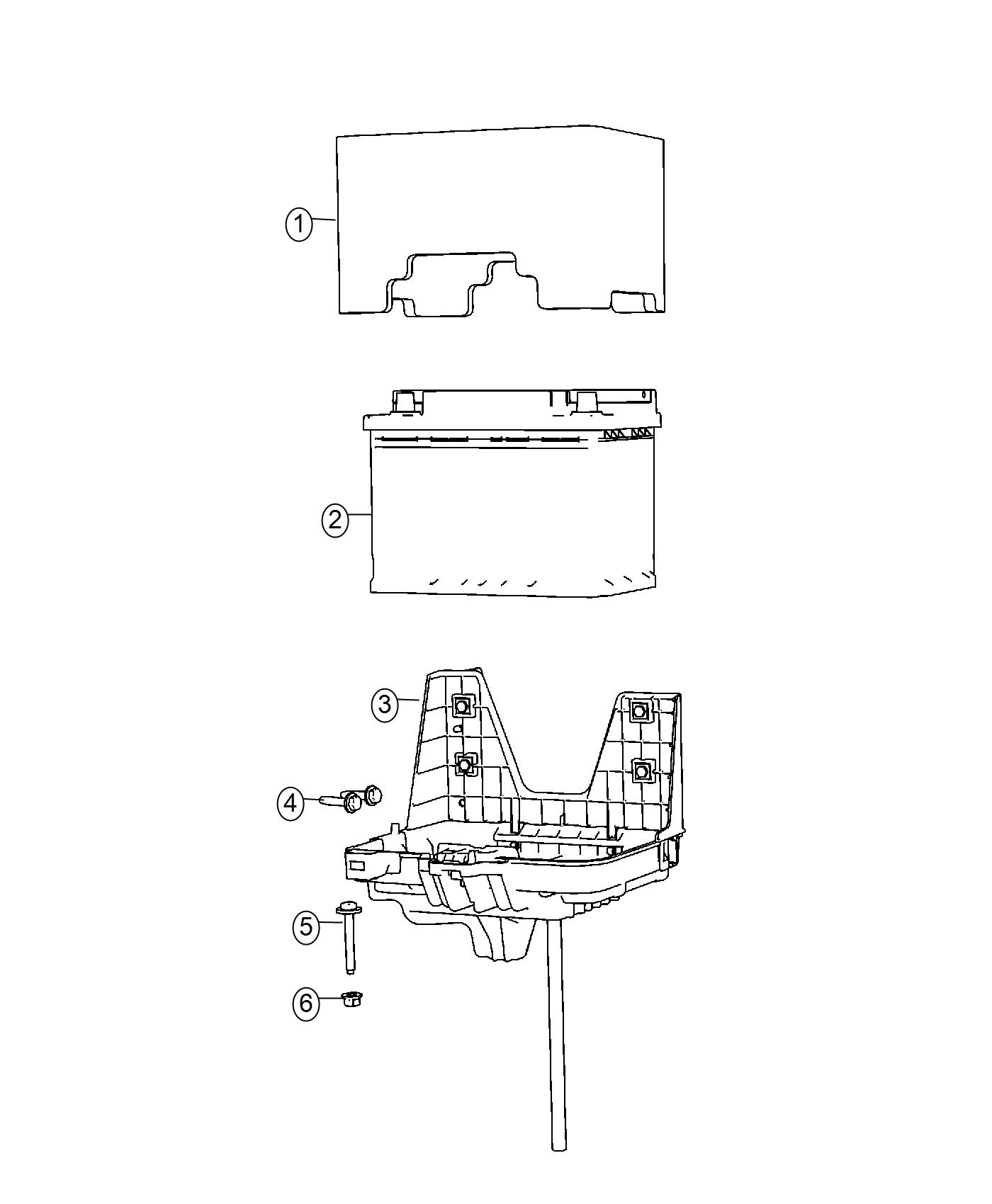 Fiat 500c Battery Storage Us Tray Support Wiring