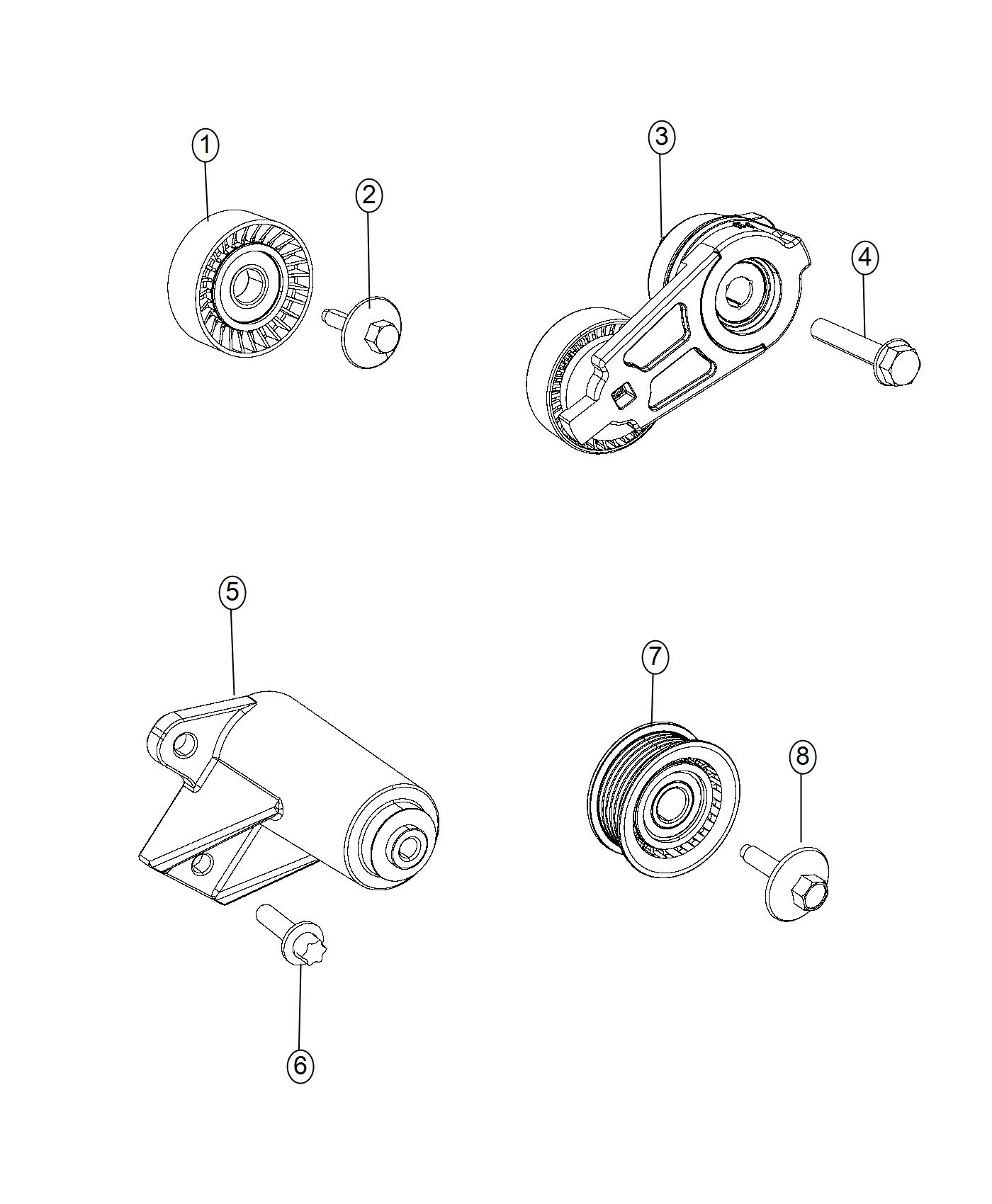 Jeep Grand Cherokee Pulley Idler Related Pulleys