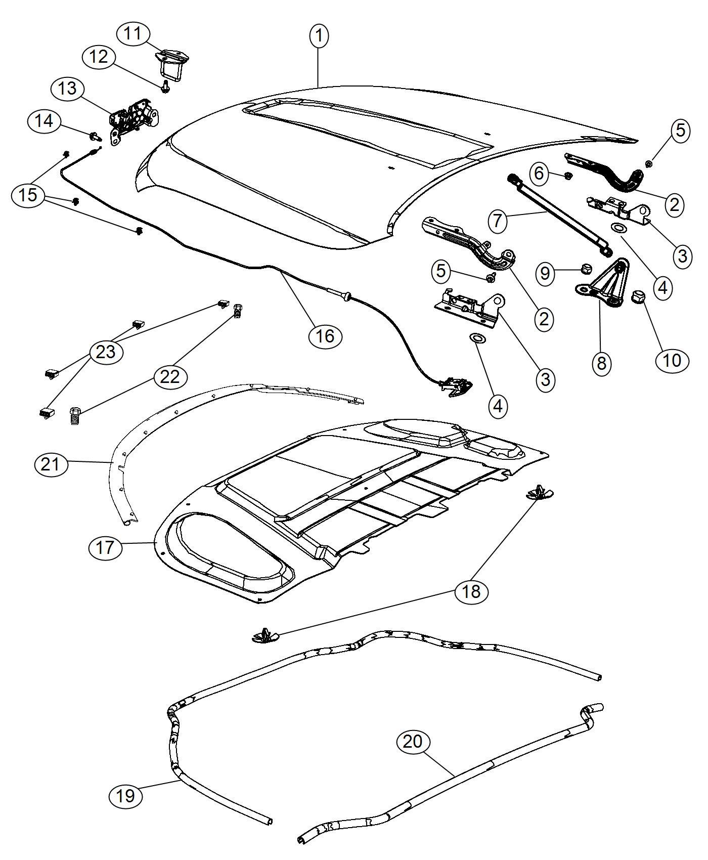 Dodge Durango Latch Hood Front End Parts Module