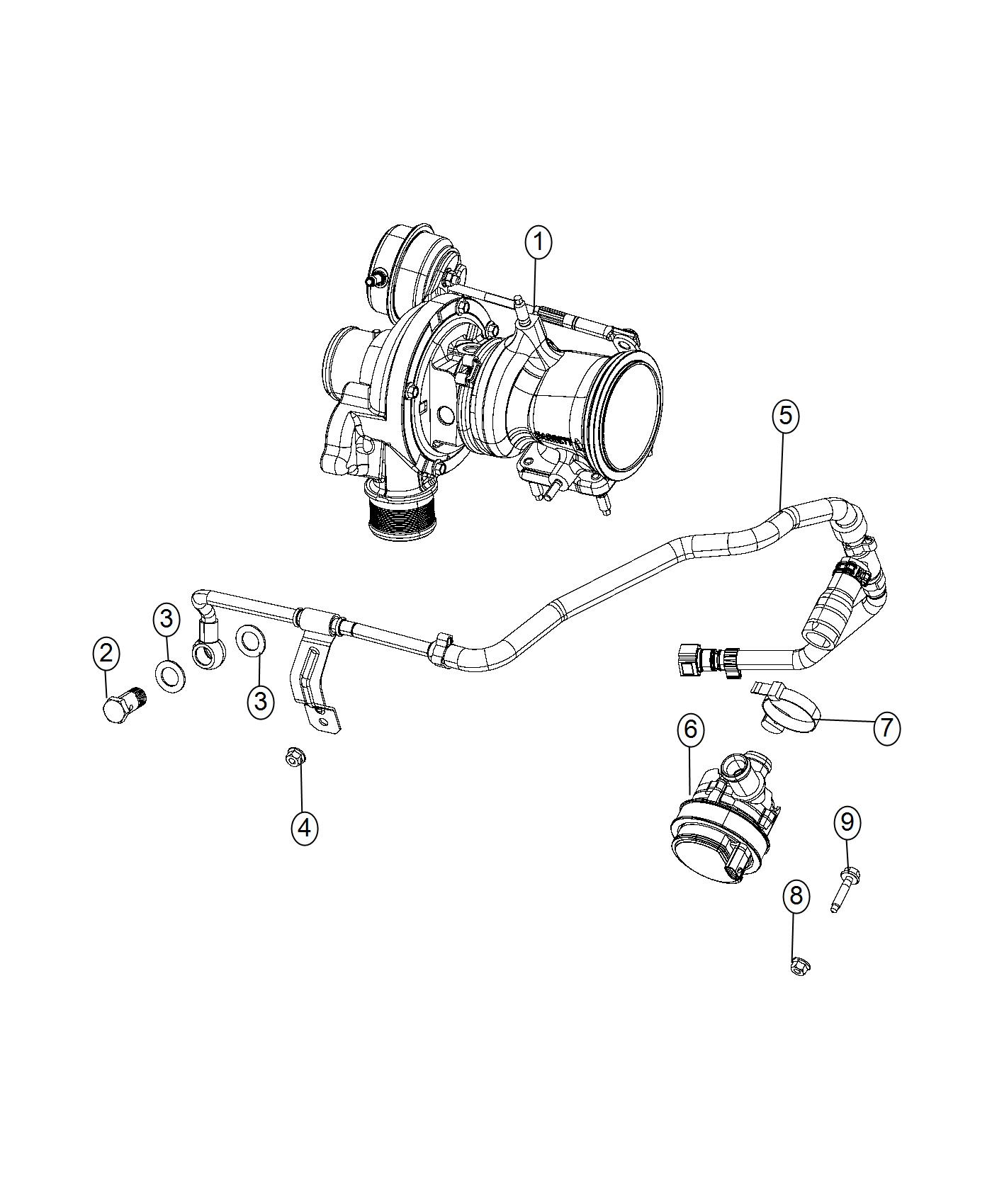 Jeep Renegade Pump Auxiliary Coolant Canada Mexico