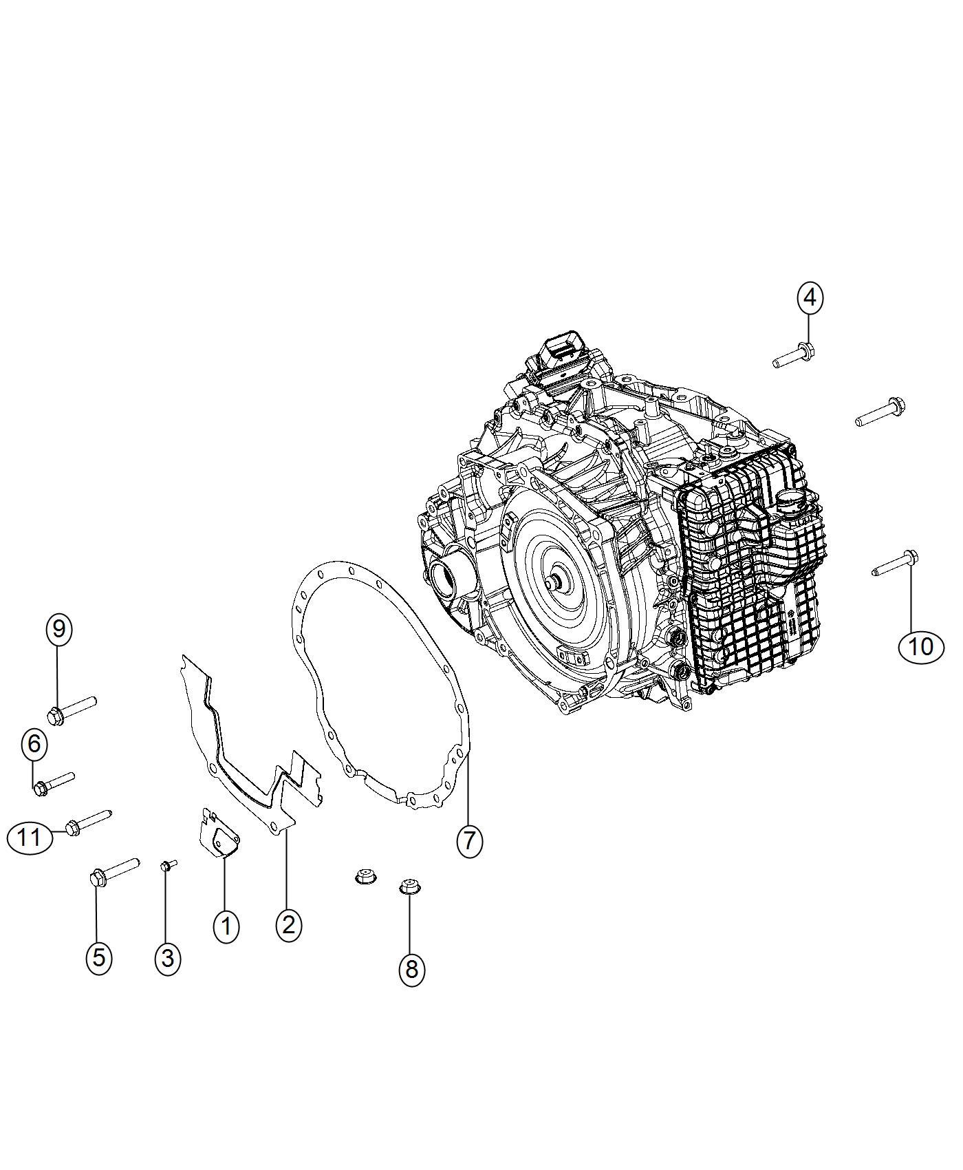 Jeep Cherokee Bolt Hex Head Module Transmission