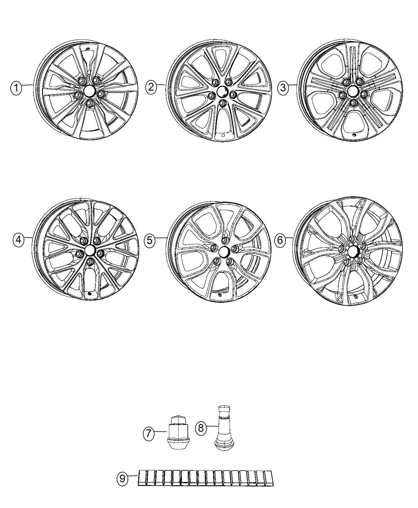 Dodge Durango Wheel Aluminum Front Or Rear 20x8 0