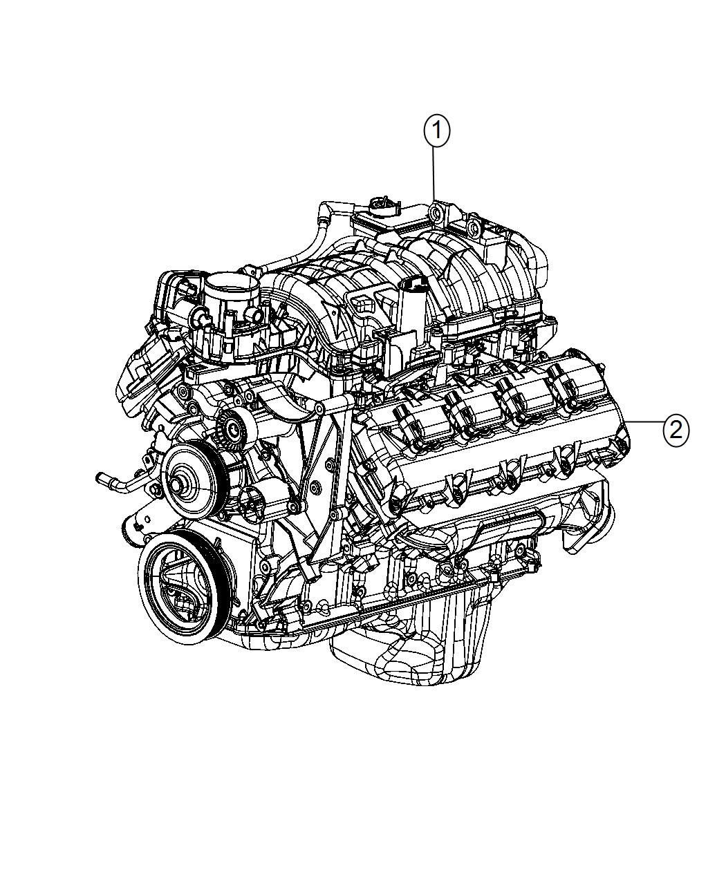 Ram Engine Long Block Engine Oil Cooler