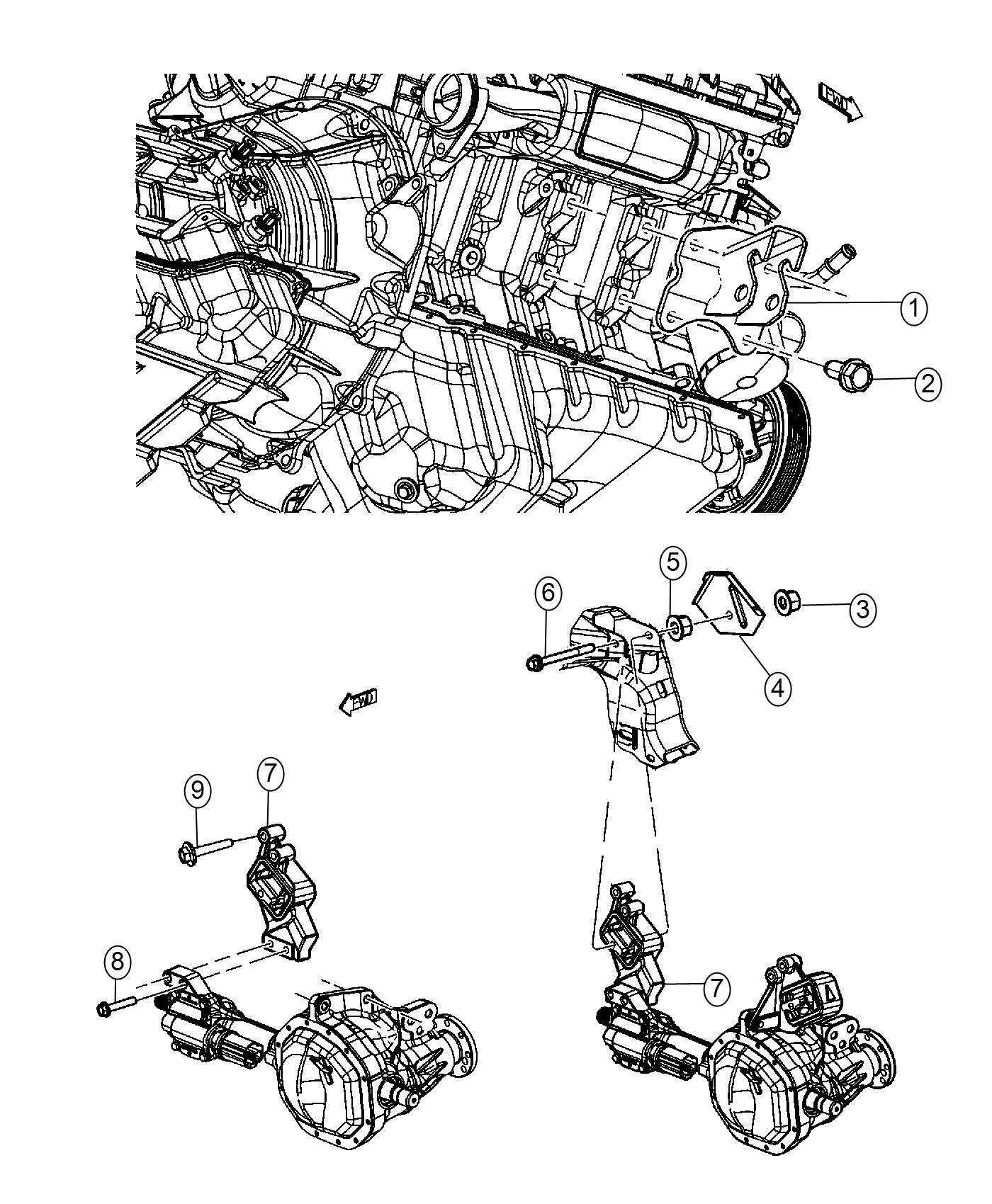 Ram Insulator Engine Mount Right Side Load