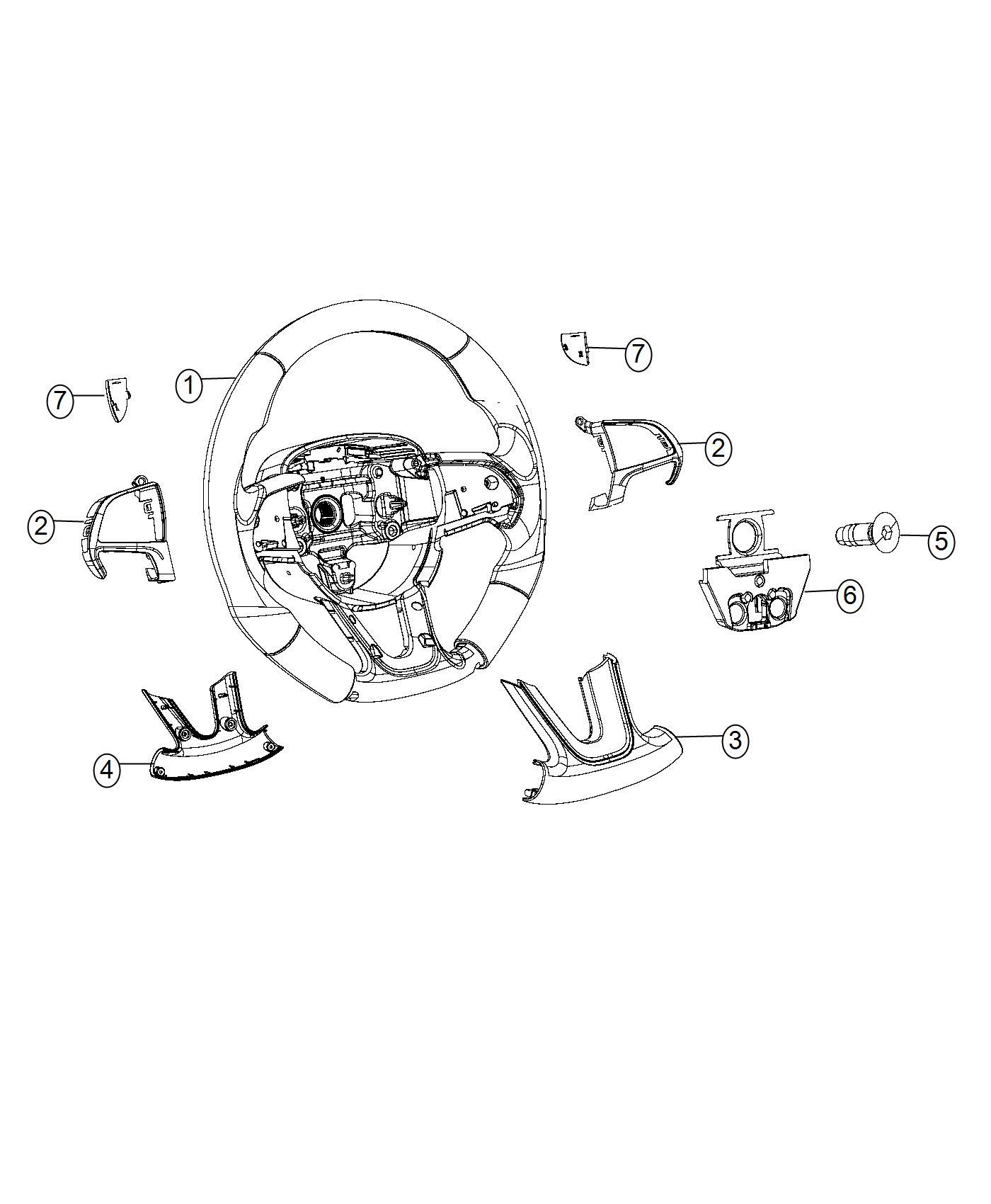 Jeep Grand Cherokee Bezel Steering Wheel Trim No