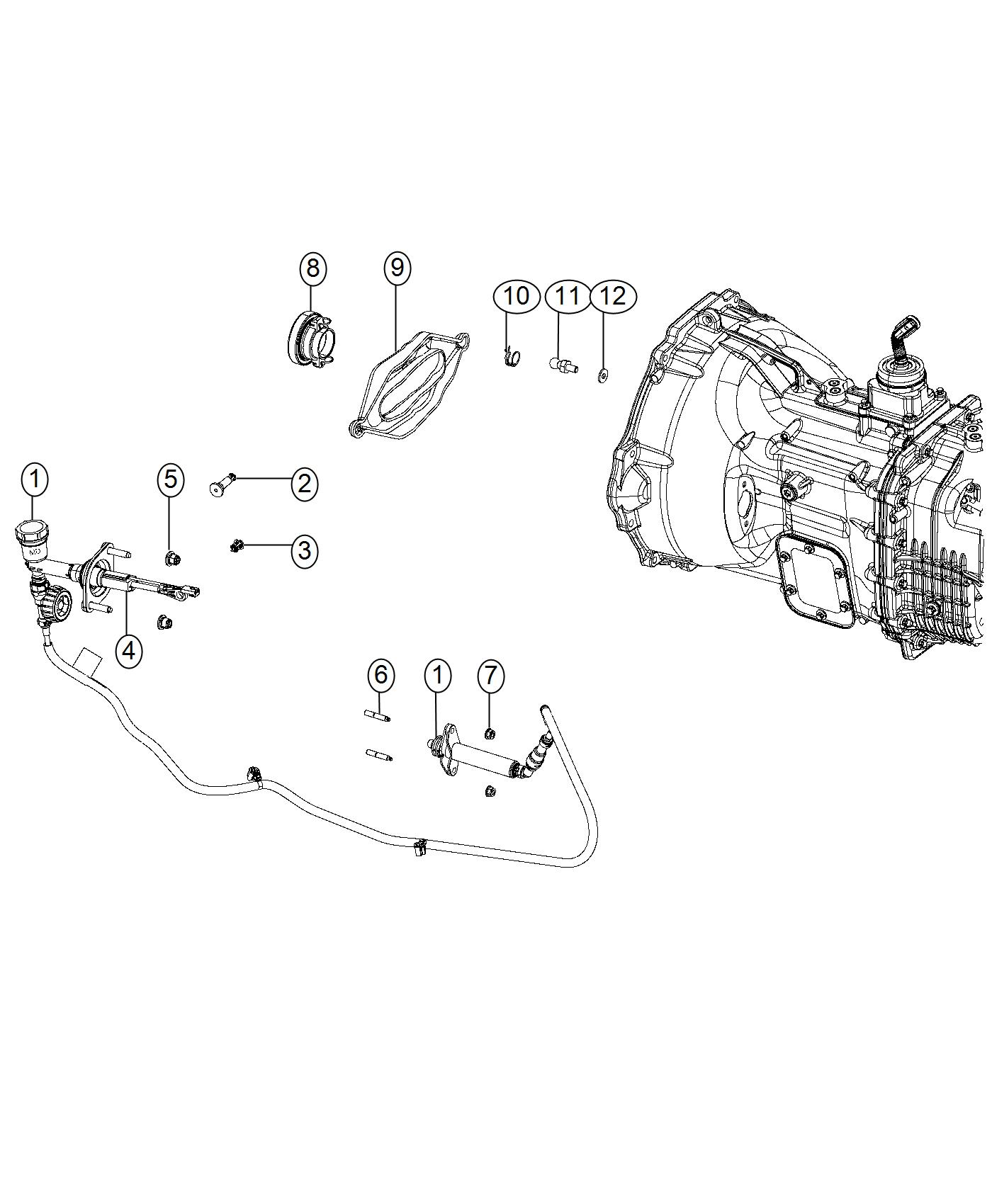 Ram Hydraulic Assembly Clutch Master Cylinder
