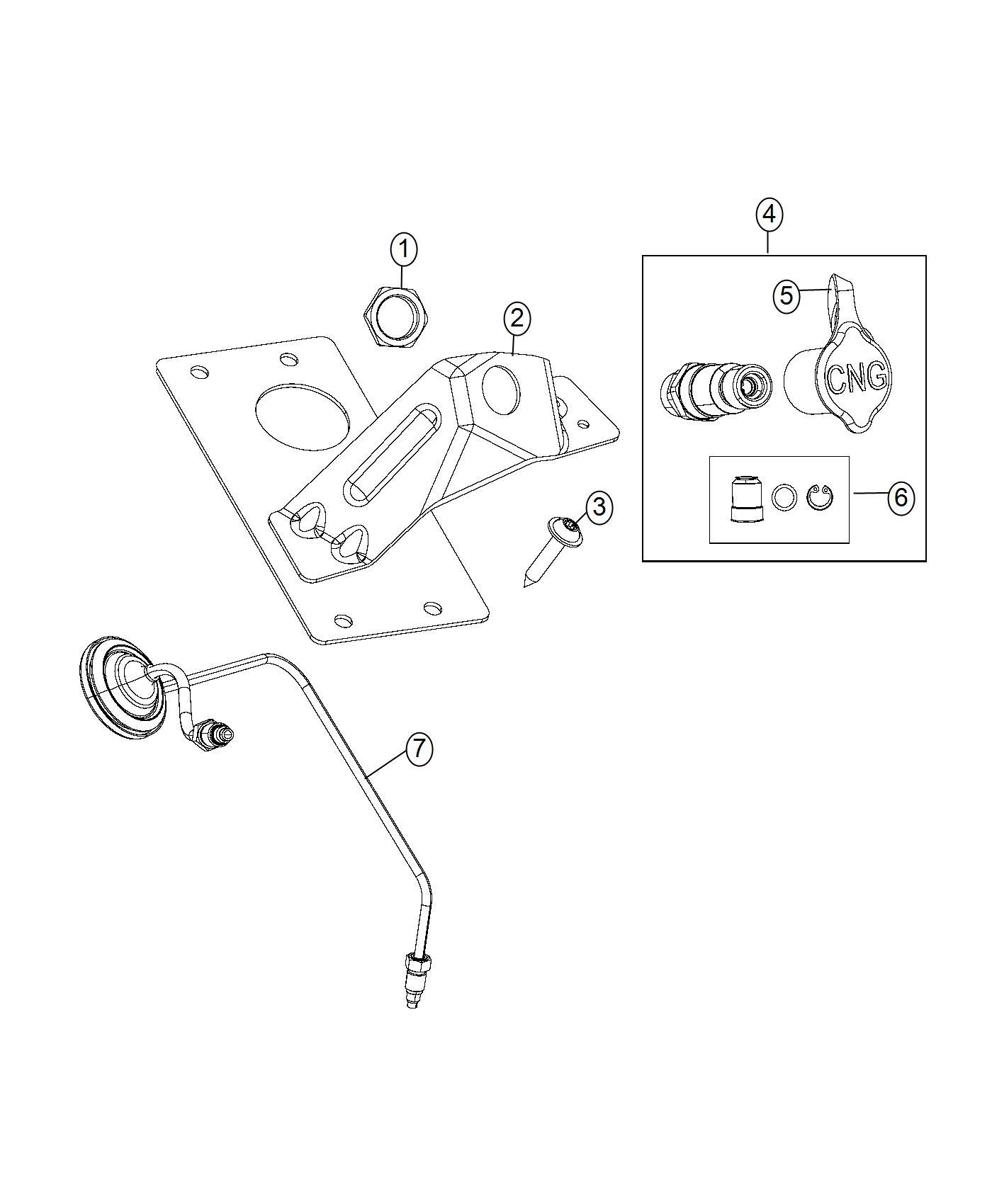 Ram Receptacle Fuel Filler Tank Cng