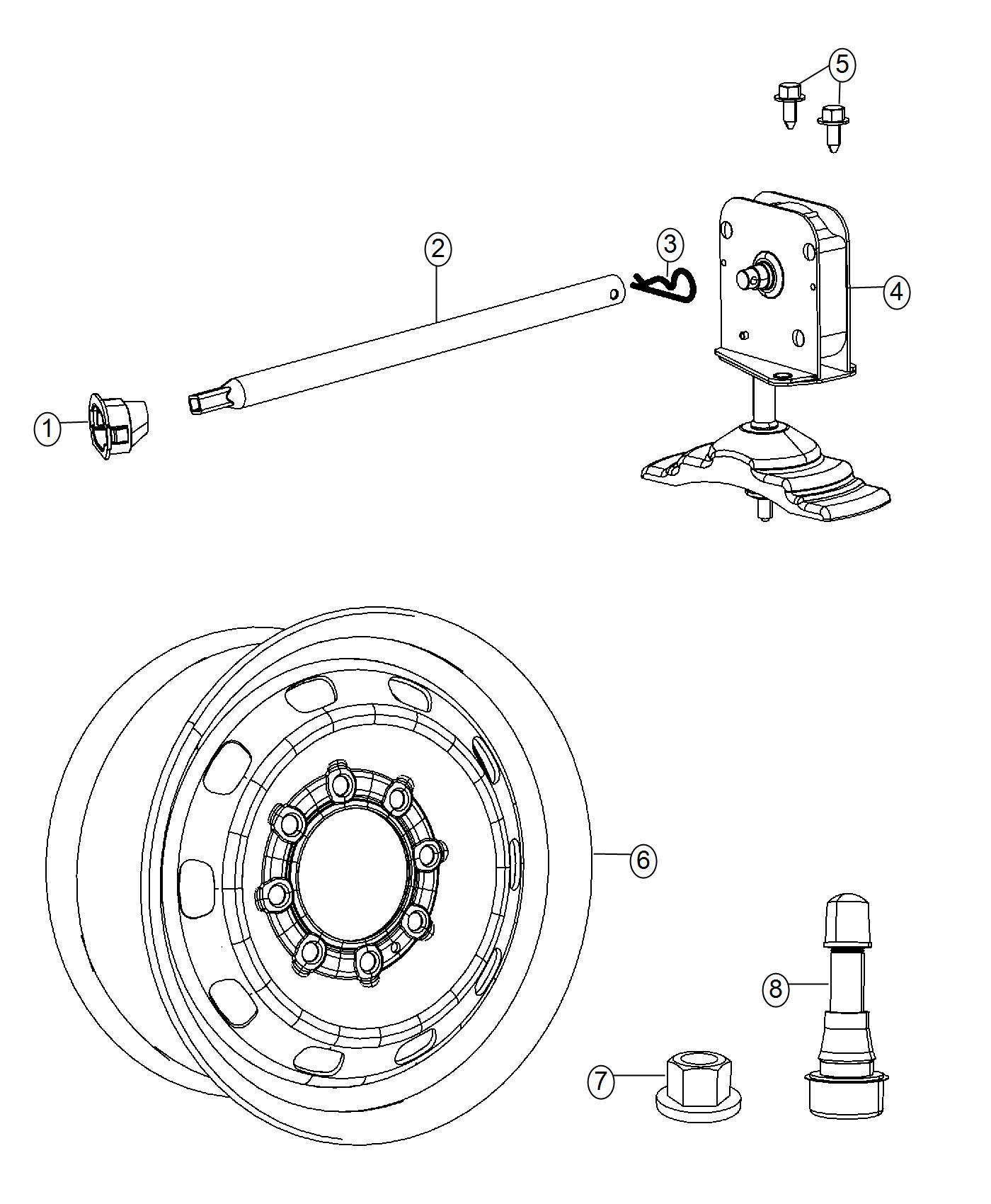 Ram Tube Winch Actuator Tire