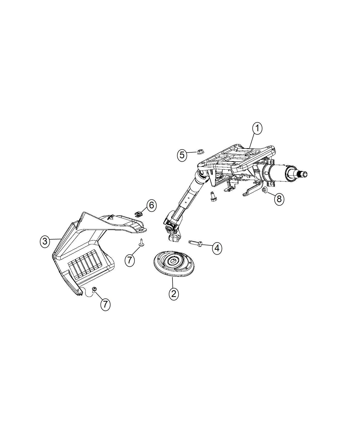 Ram Promaster Screw Steering Column To Dash