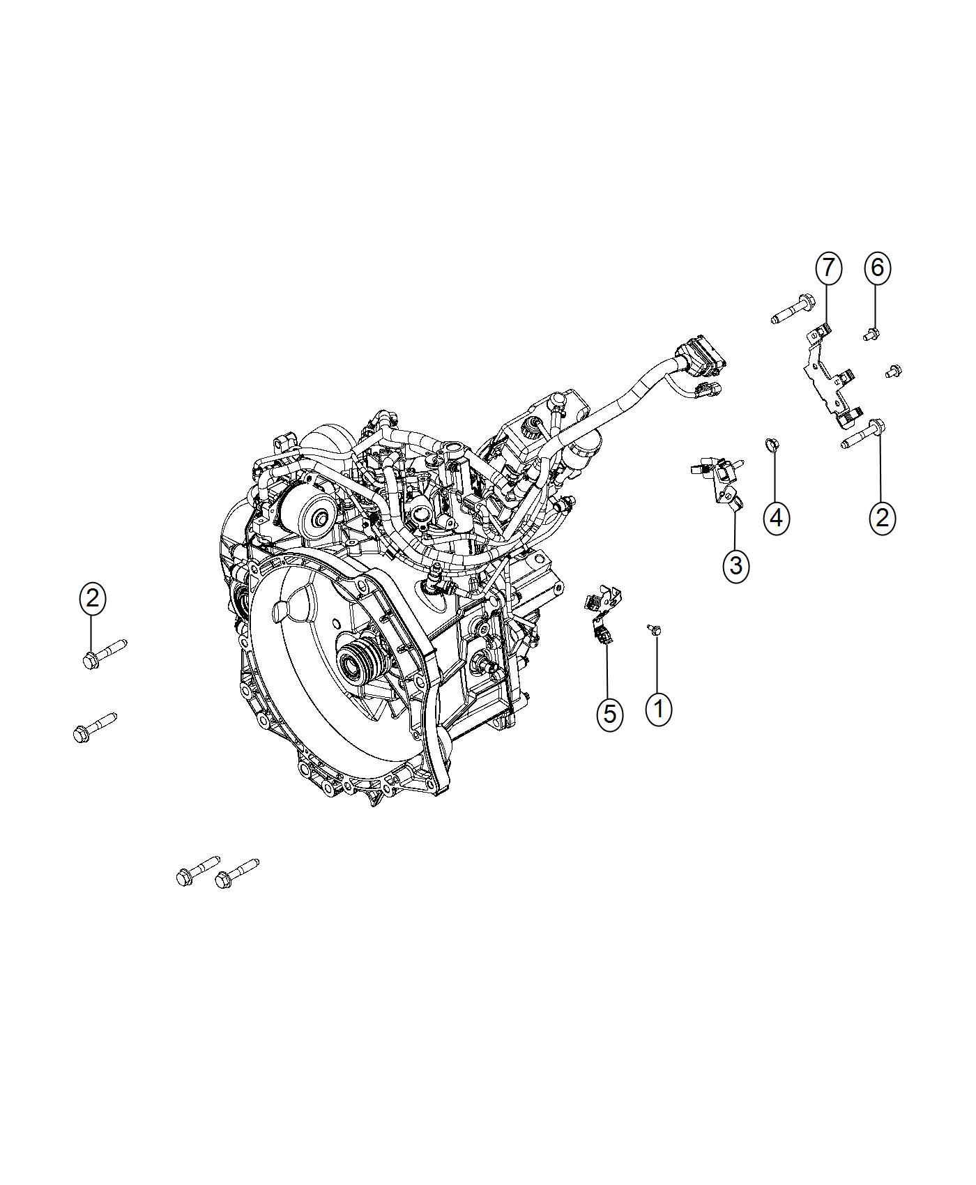 Ram Bracket Transmission Wiring Support Trim
