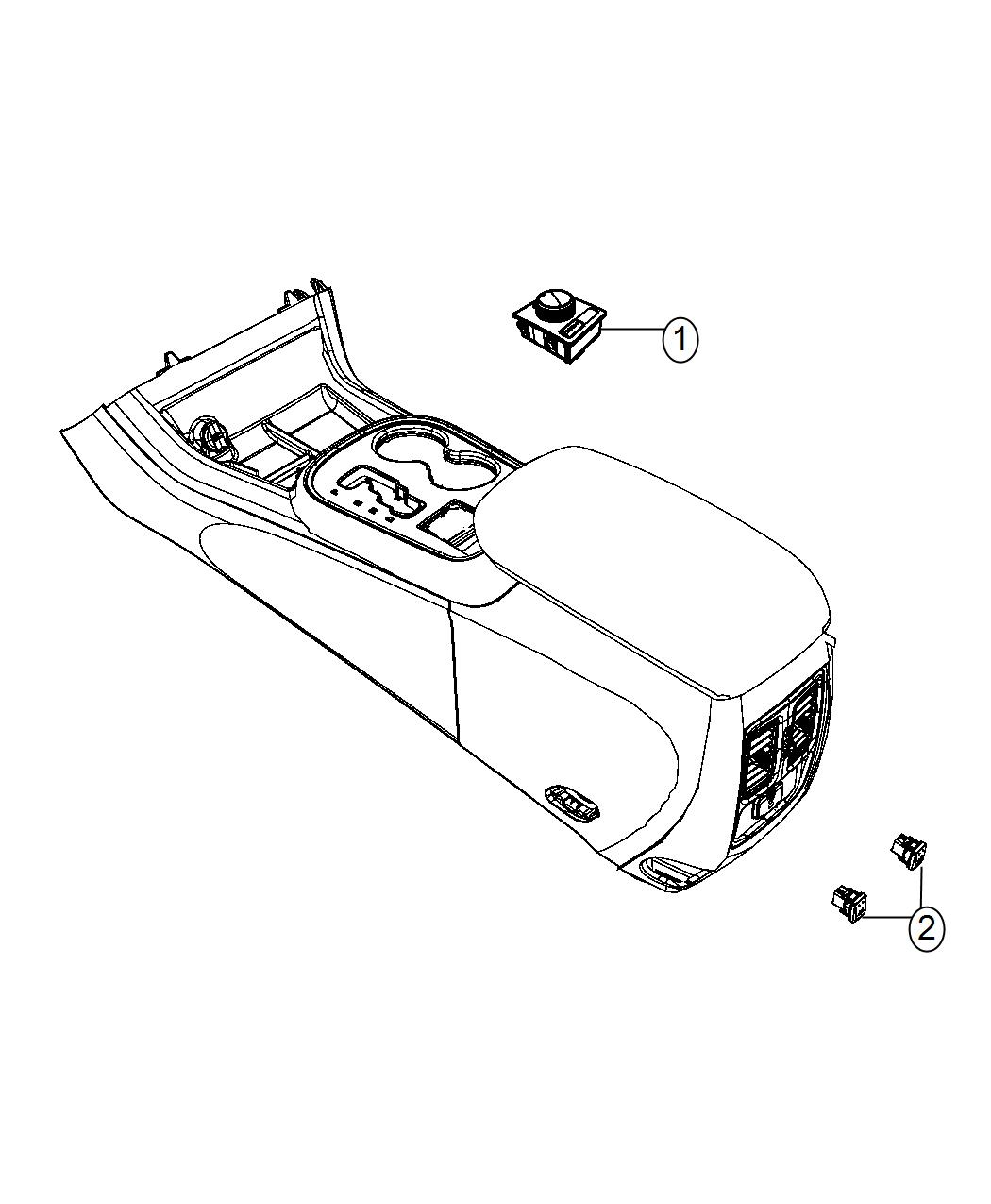 Dodge Durango Switch Transfer Case 2 Speed On