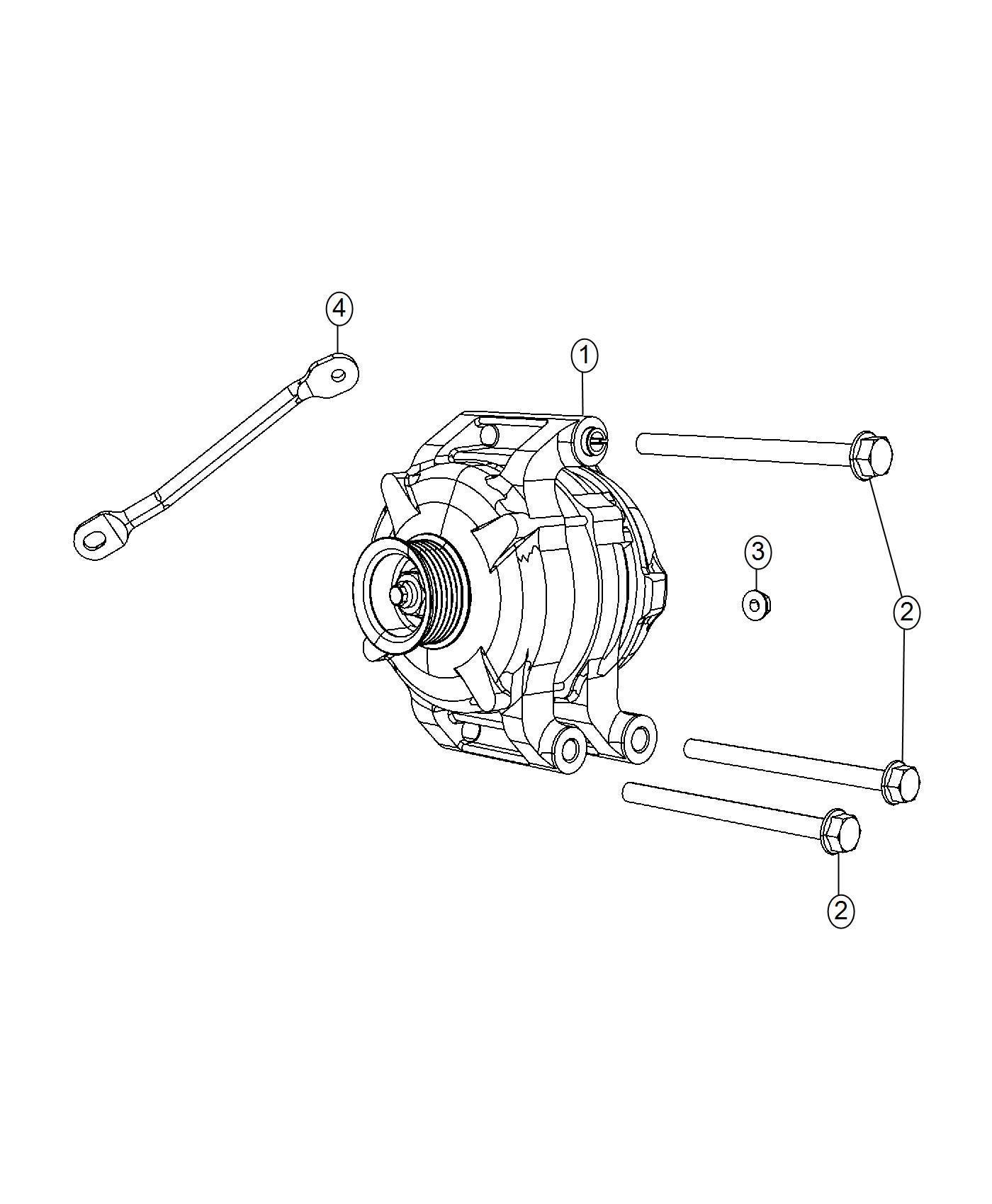 Jeep Grand Cherokee Bracket Alternator Generator