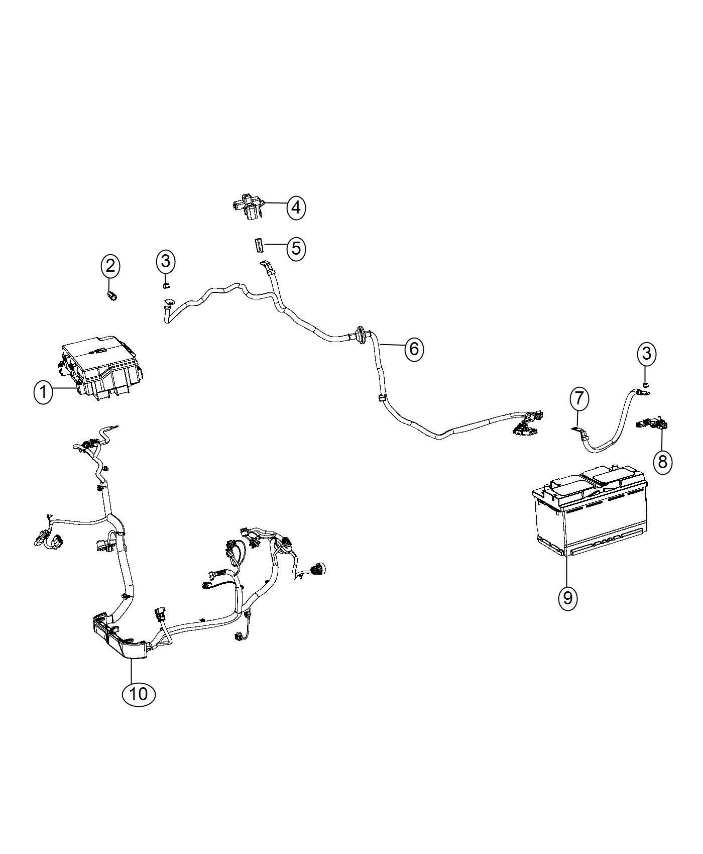 Jeep Grand Cherokee Sensor Battery Negative Cable