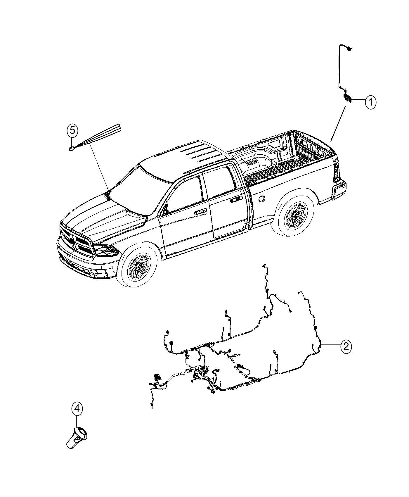 Ram Wiring Kit Trailer Tow Trailer Brake Jumper