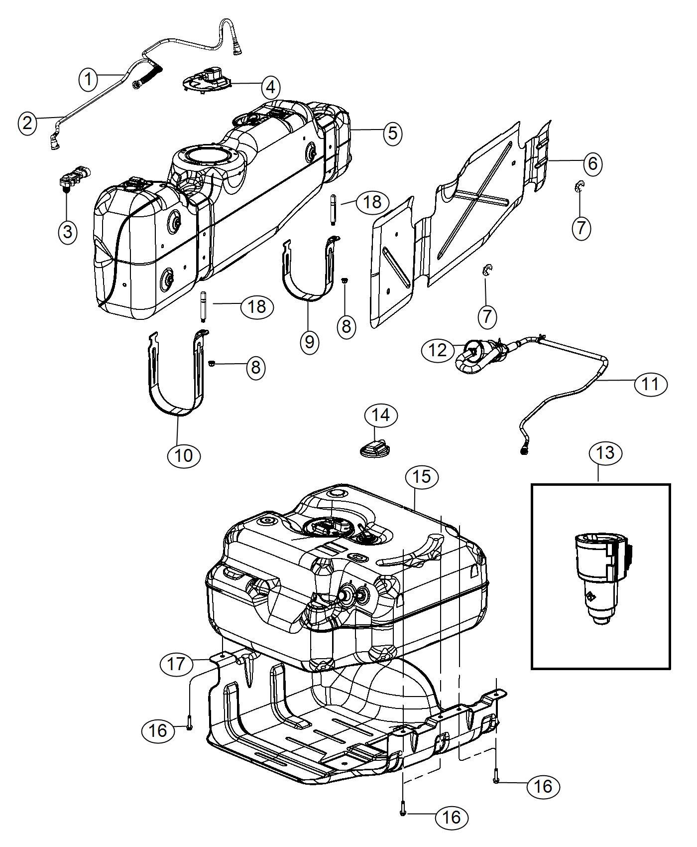 Ram Cap Fuel Pump Gallon Tank That