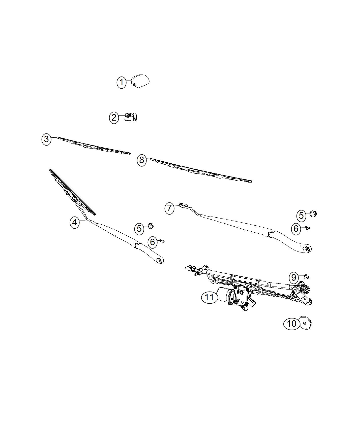 Dodge Grand Caravan Used For Motor And Linkage Windshield Wiper Var Intermittent