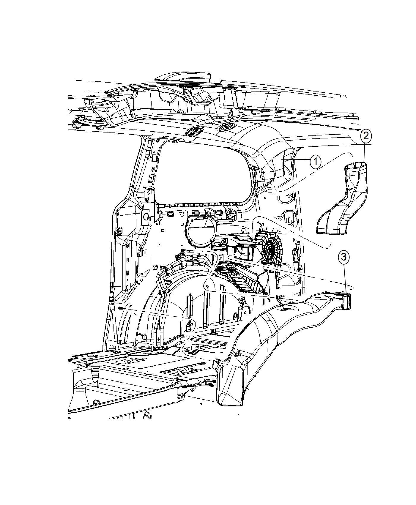 Dodge Grand Caravan Duct Floor Rear Mopar Heater