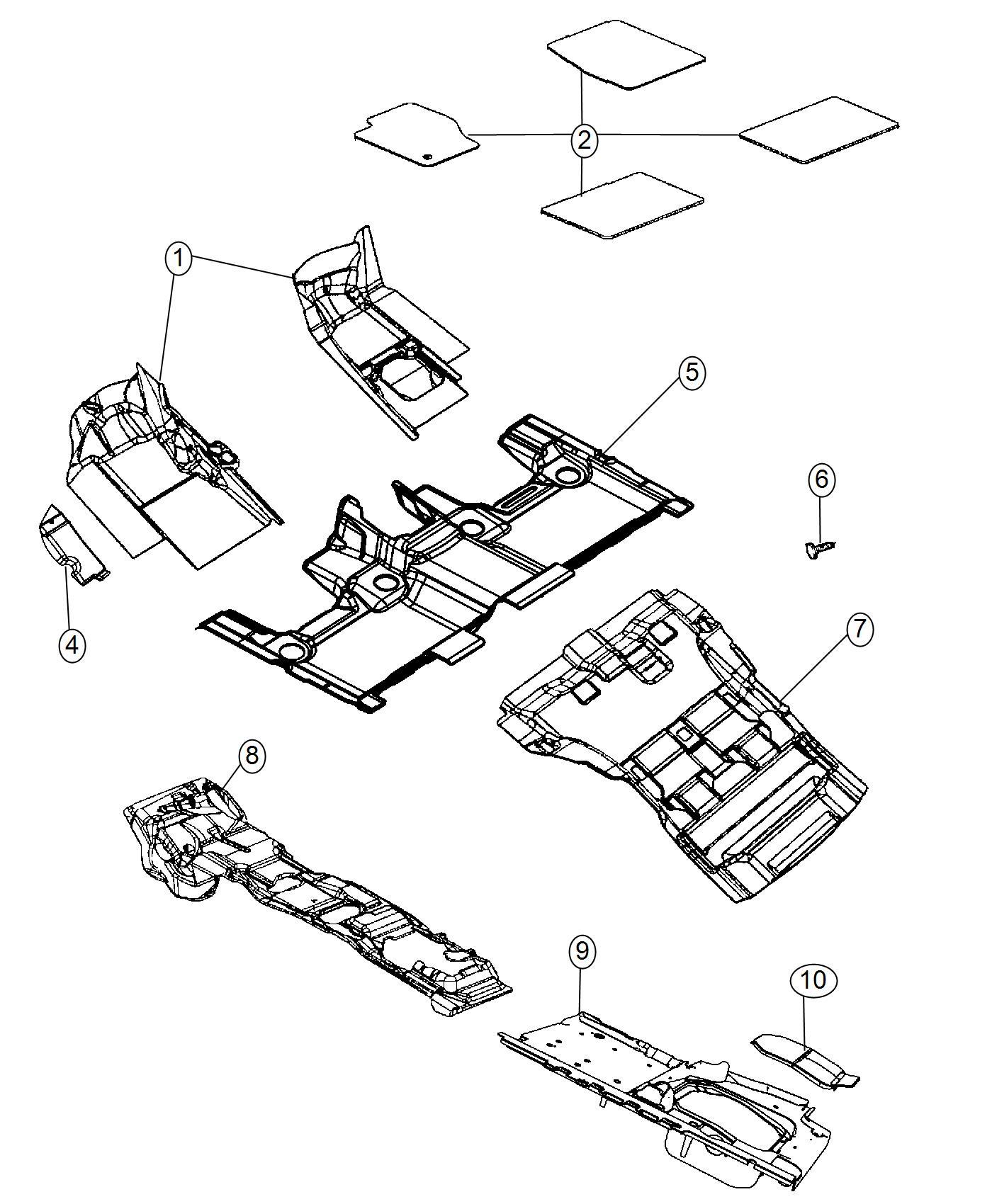Jeep Grand Cherokee Mat Kit Floor Brown Luxury Front