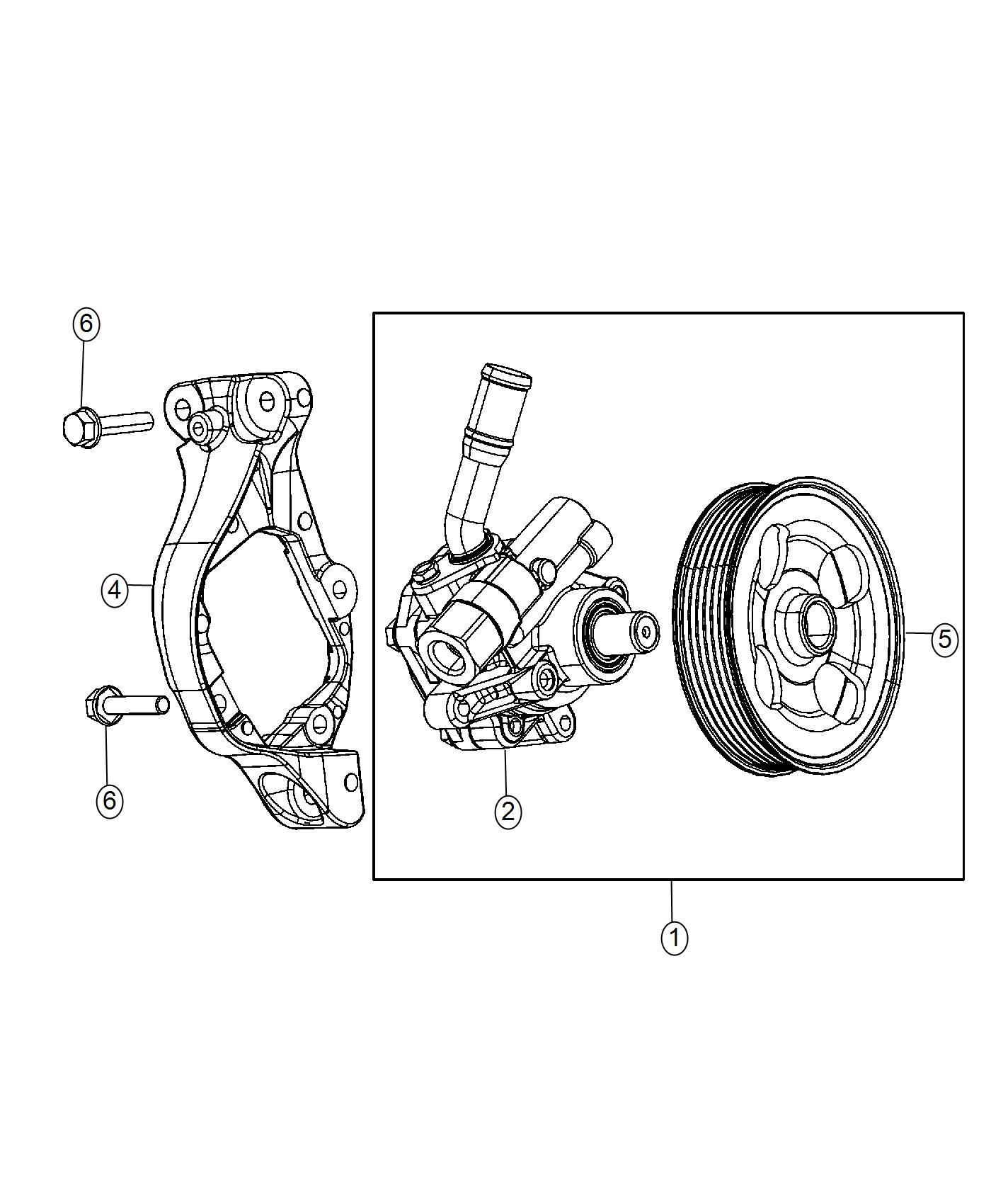 Jeep Wrangler Pulley Power Steering Pump Module