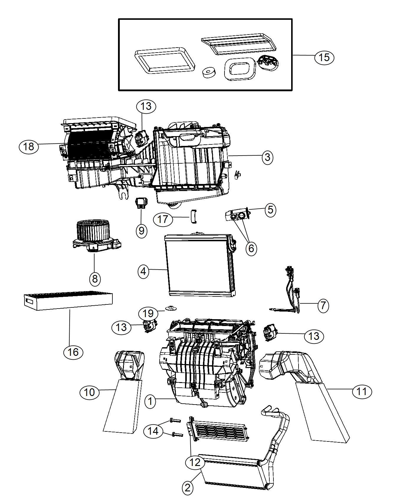 Dodge Journey Probe Air Conditioning Instrument Module Panel