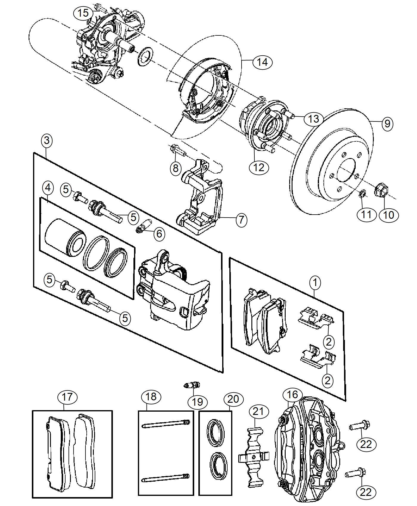 Chrysler 300 Pad Kit Rear Disc Brake