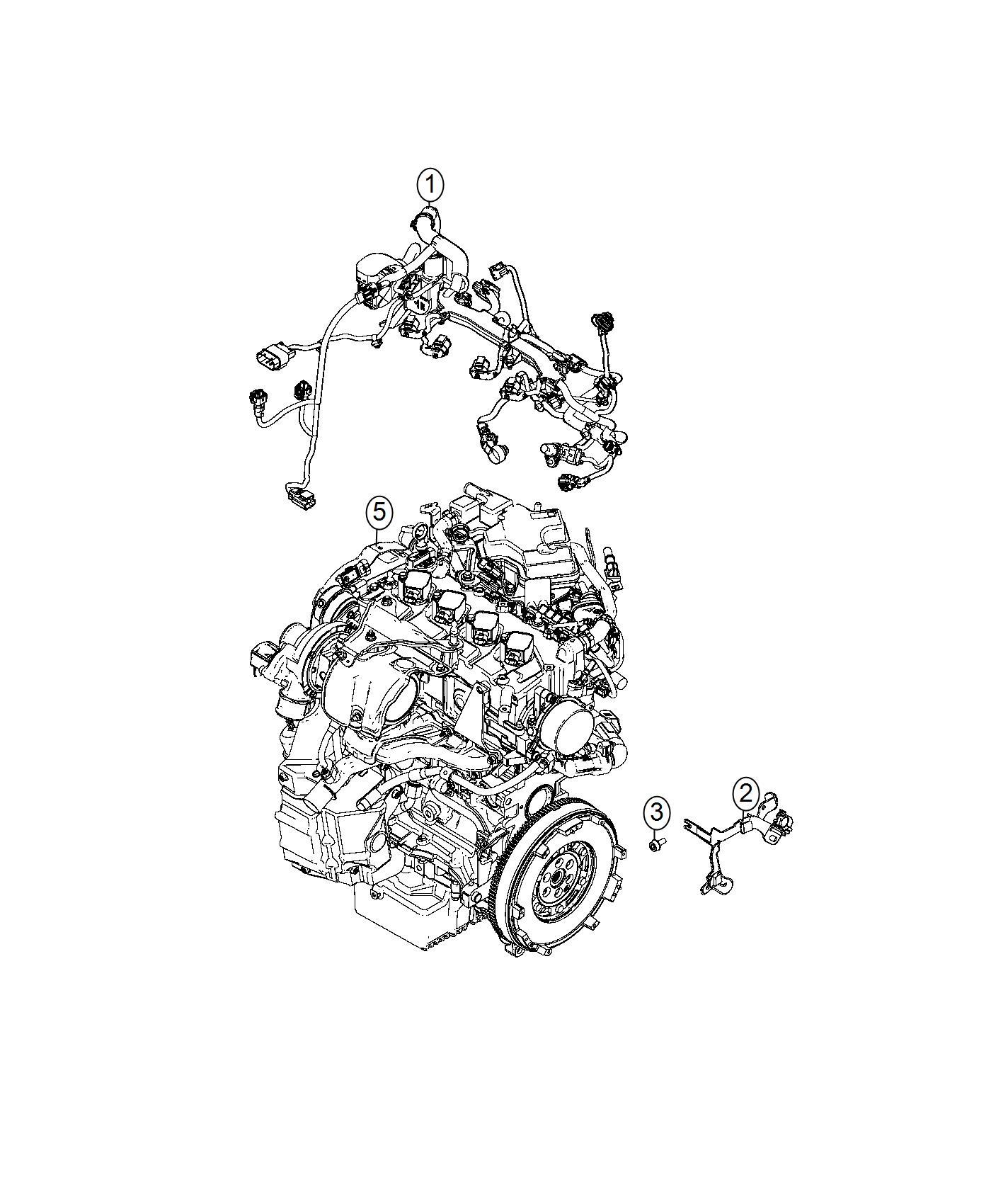 Fiat Spider Bracket Wiring Harness Mopar Engine