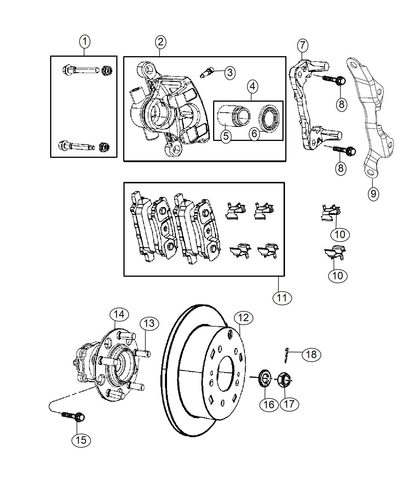 Jeep Compass Bracket Brake Caliper Left Anti Lock