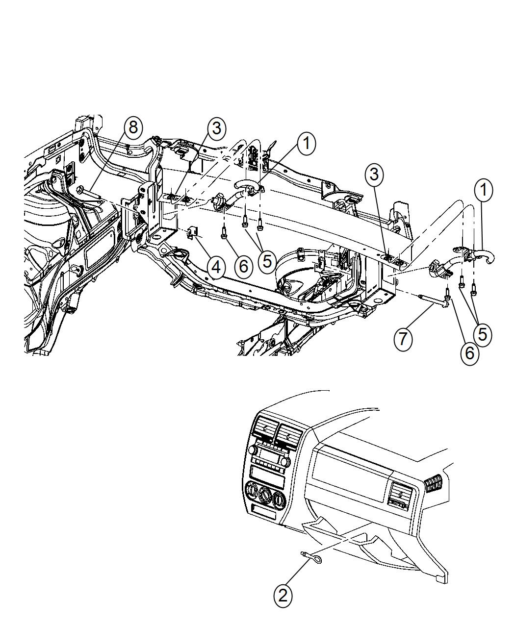 Jeep Patriot Hook Tow Tow Eye Brackets