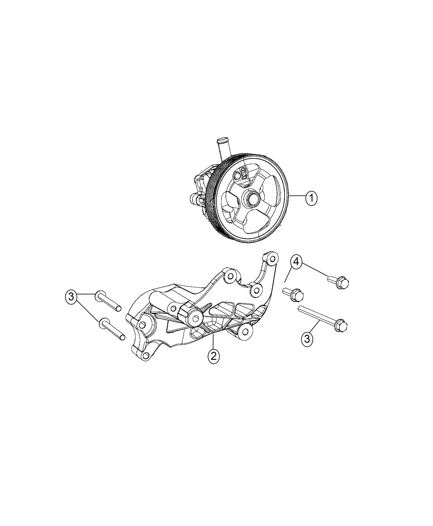 Jeep Compass Pump Power Steering New For Core