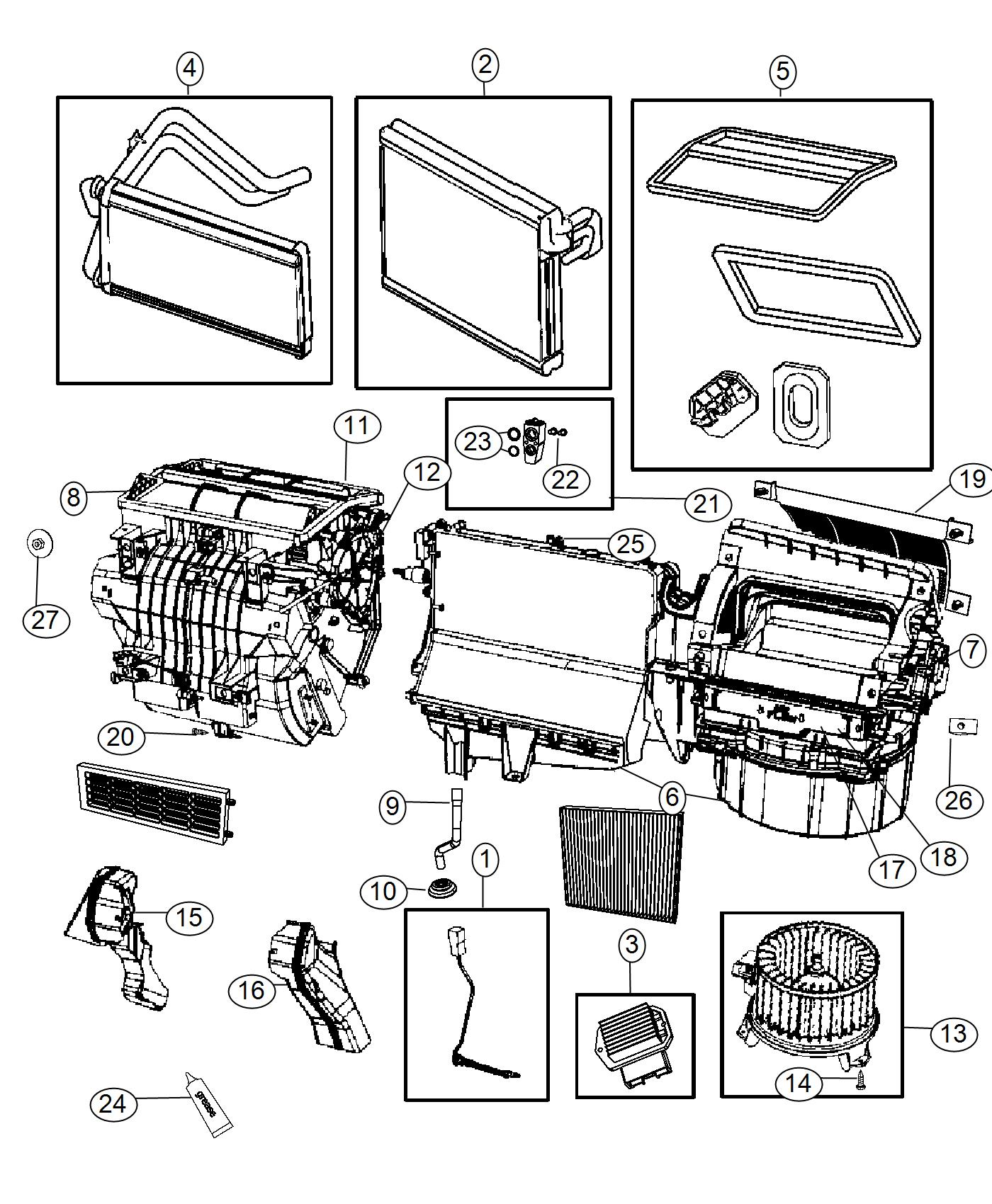 Jeep Compass Evaporator Air Conditioning Heater