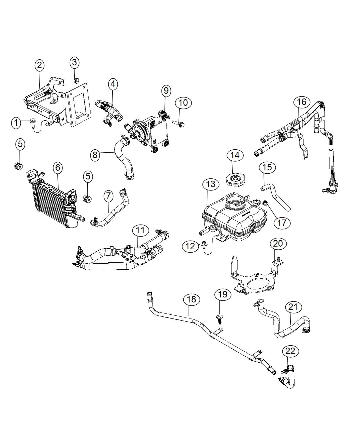 Dodge Challenger Hose Coolant Cooling Ltr System