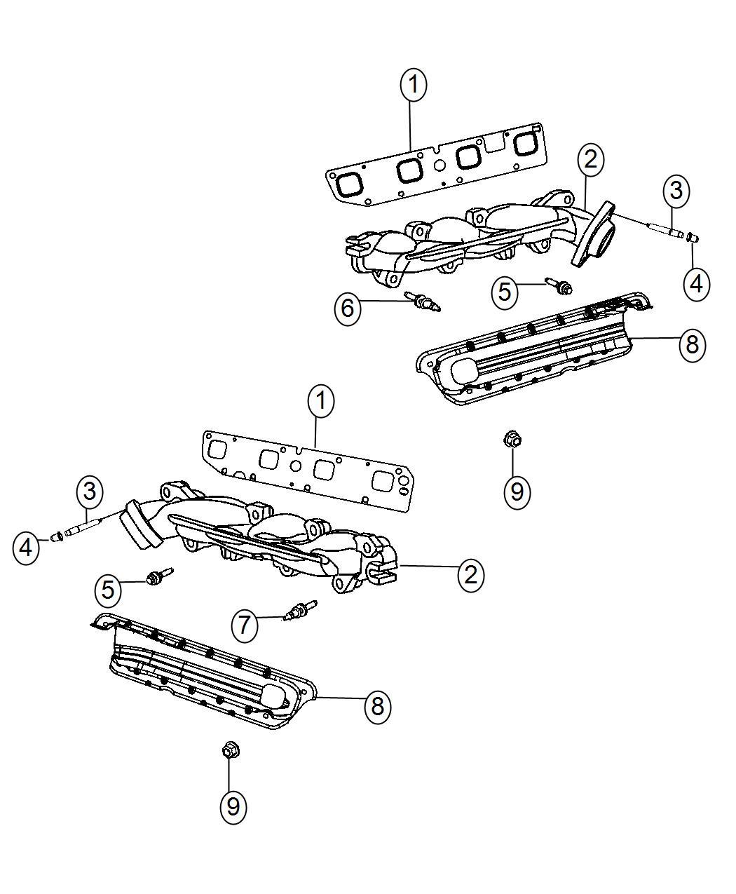 Dodge Challenger Manifold Exhaust Left Left Side