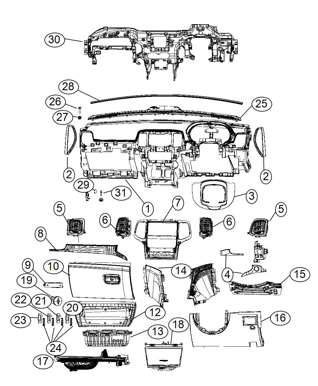 Jeep Grand Cherokee Kneeblocker Export Right Hand